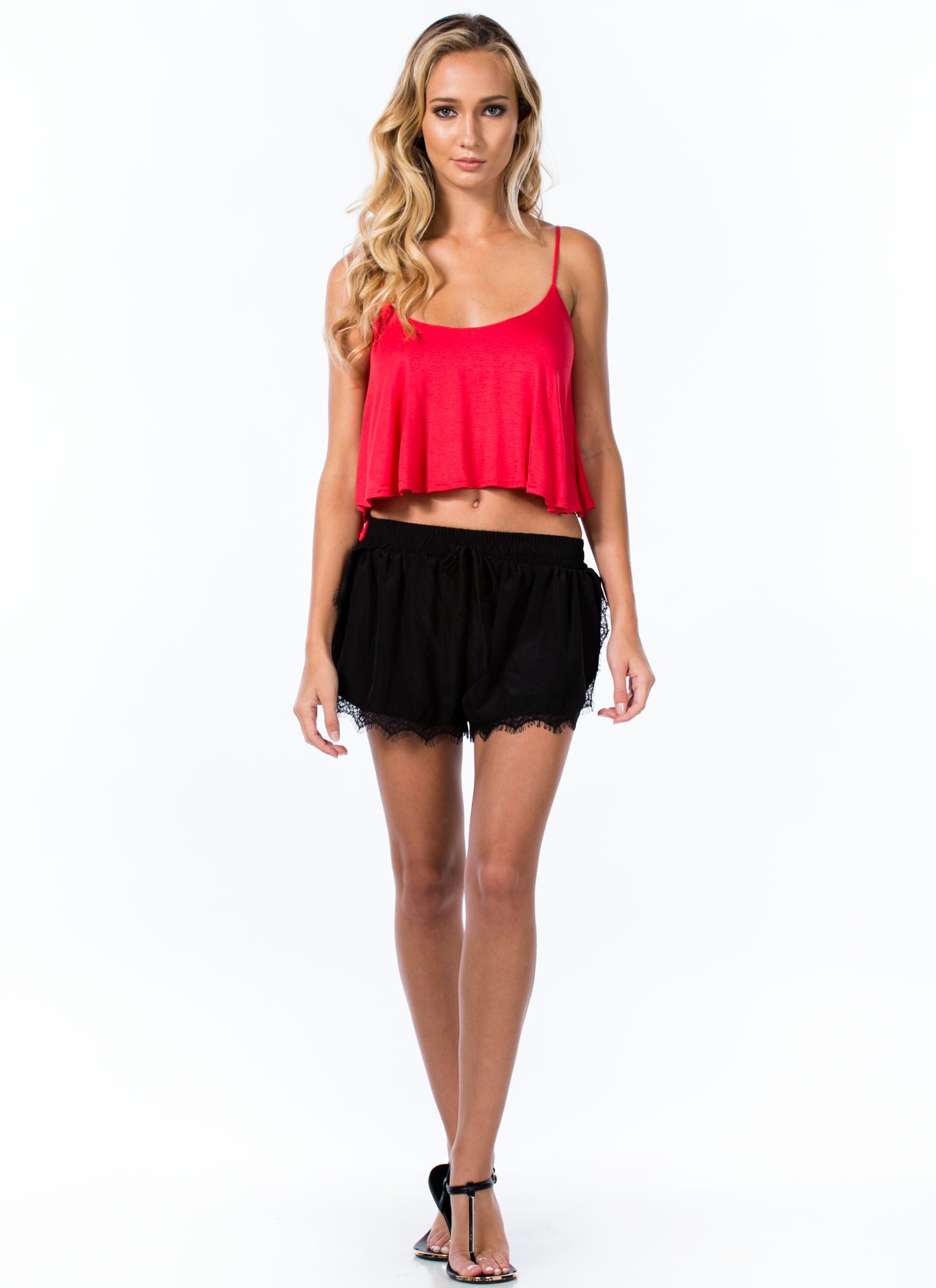 Easy Breezy Carefree Cami Swing Tank CORAL