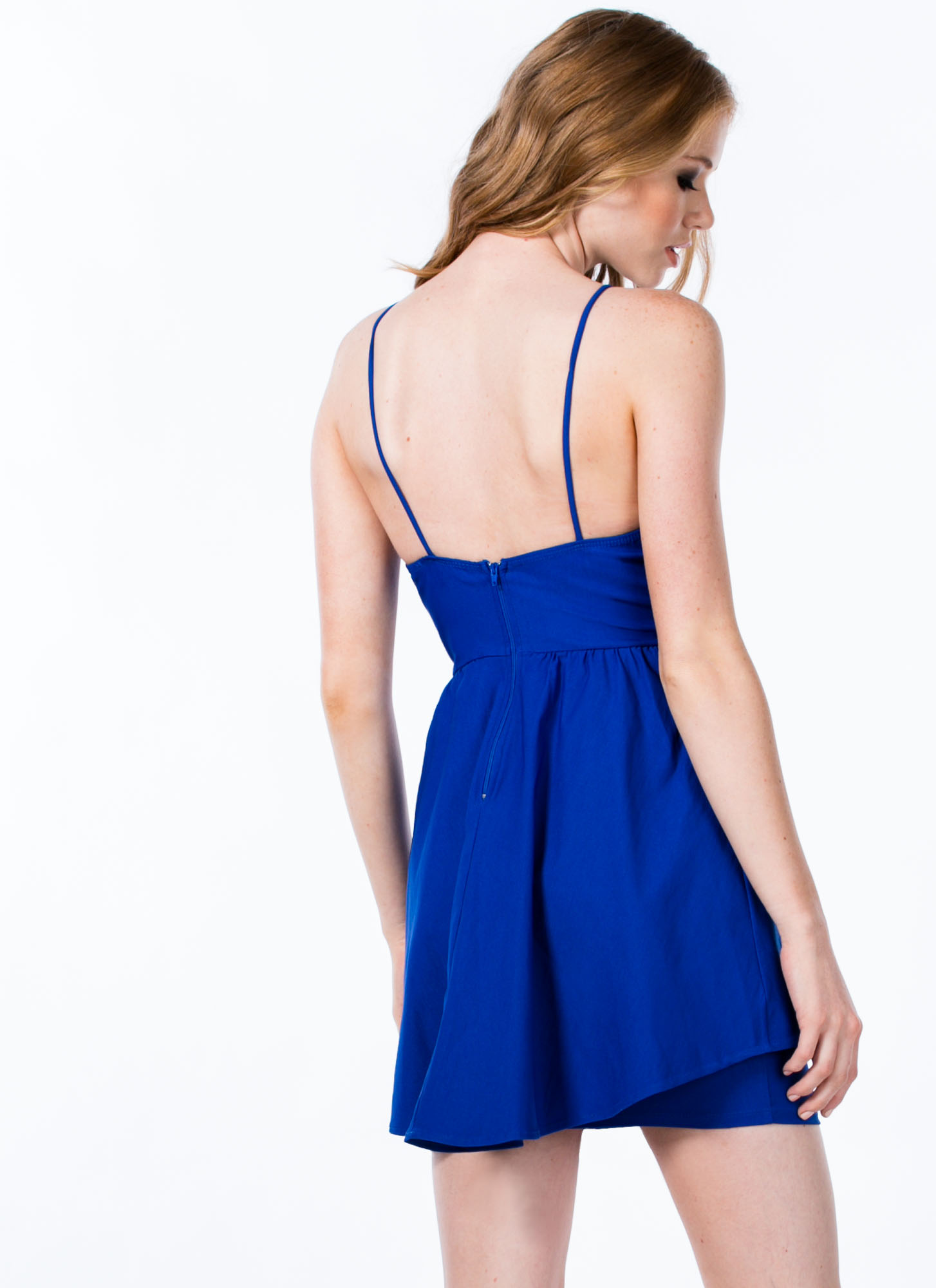 Seeing Curves Peplum Dress COBALT