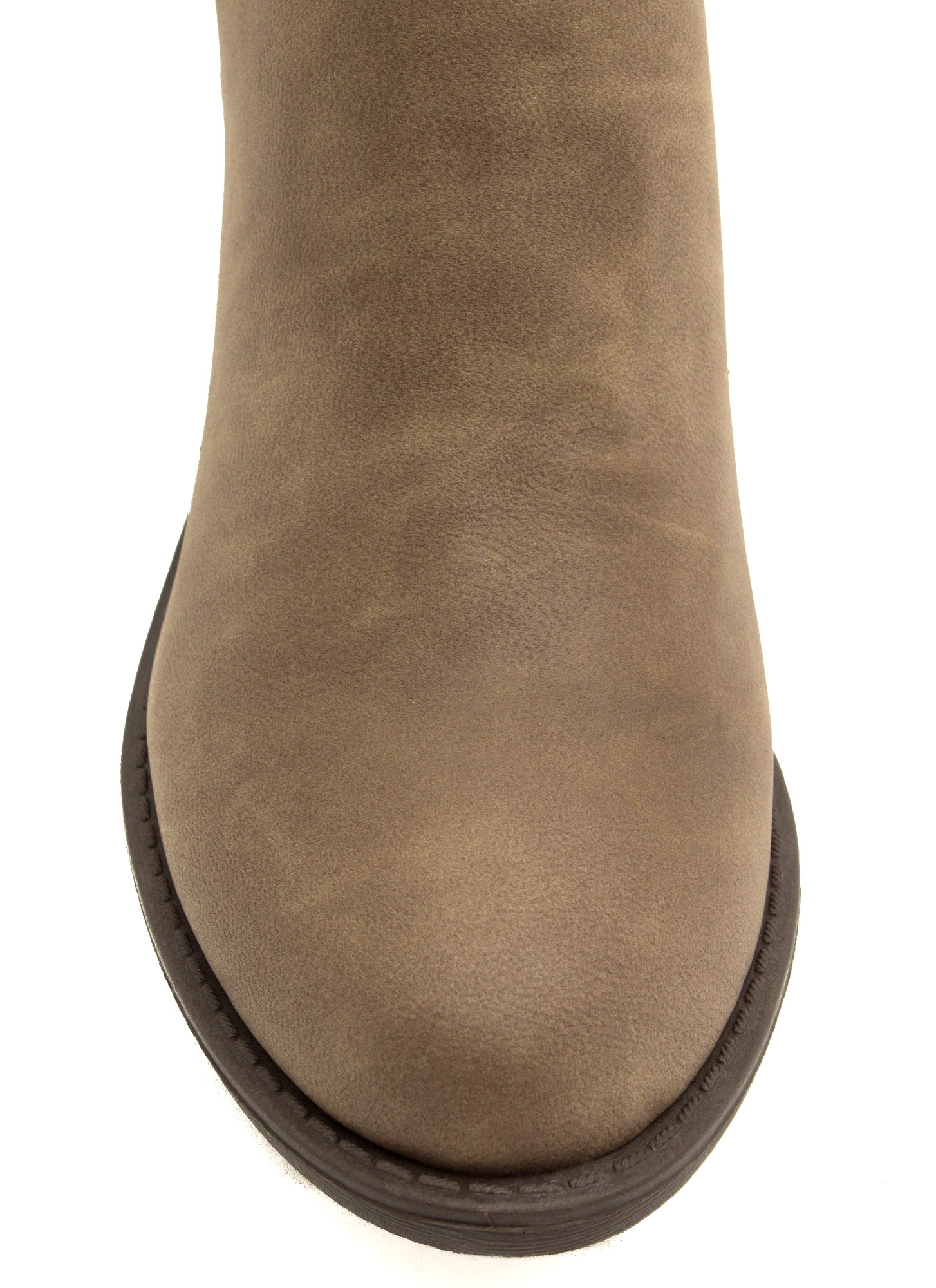 Perfect Basic Faux Leather Booties STONE