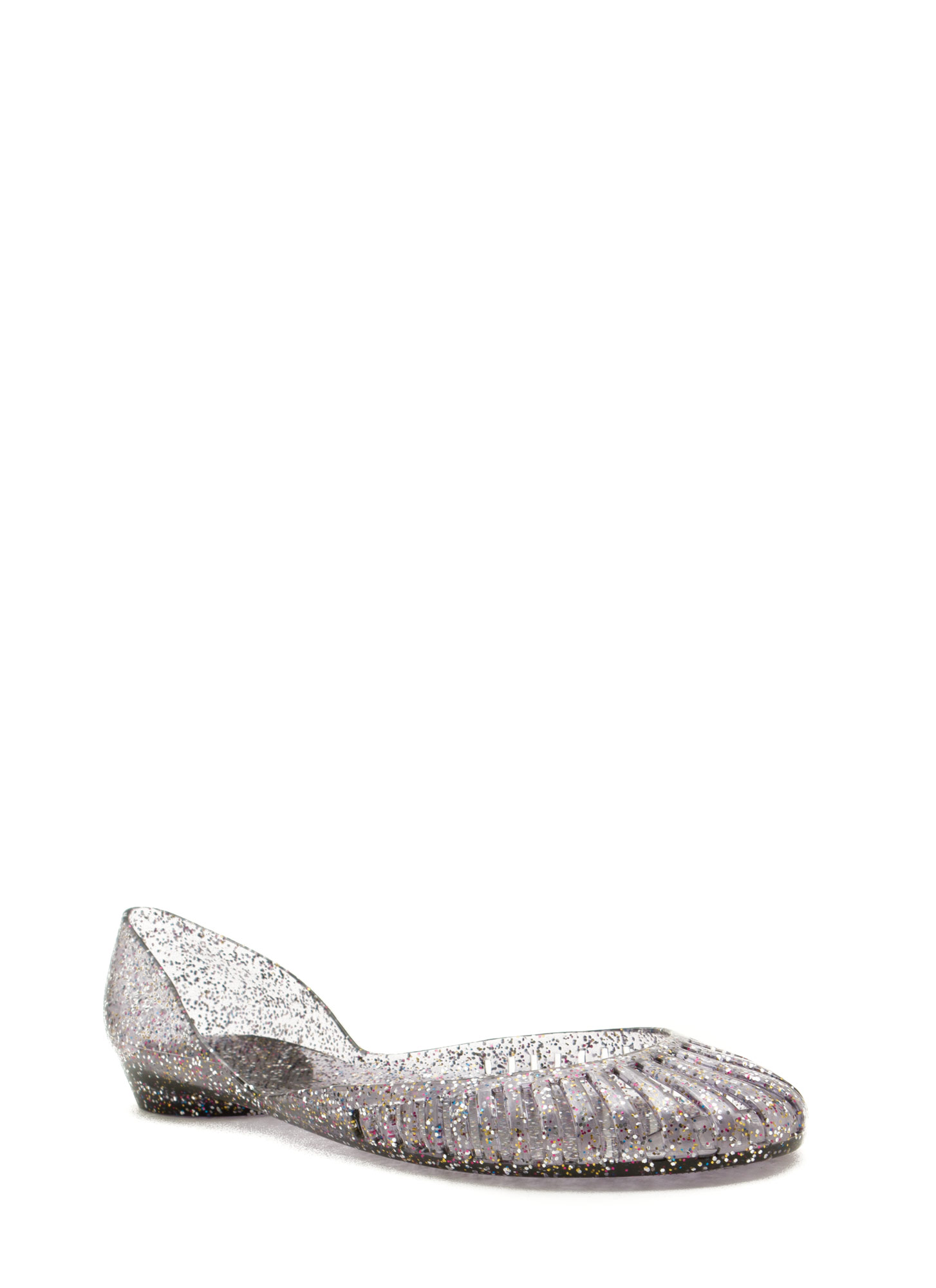 That's My Jam Cut-Out Jelly Flats PEWTER