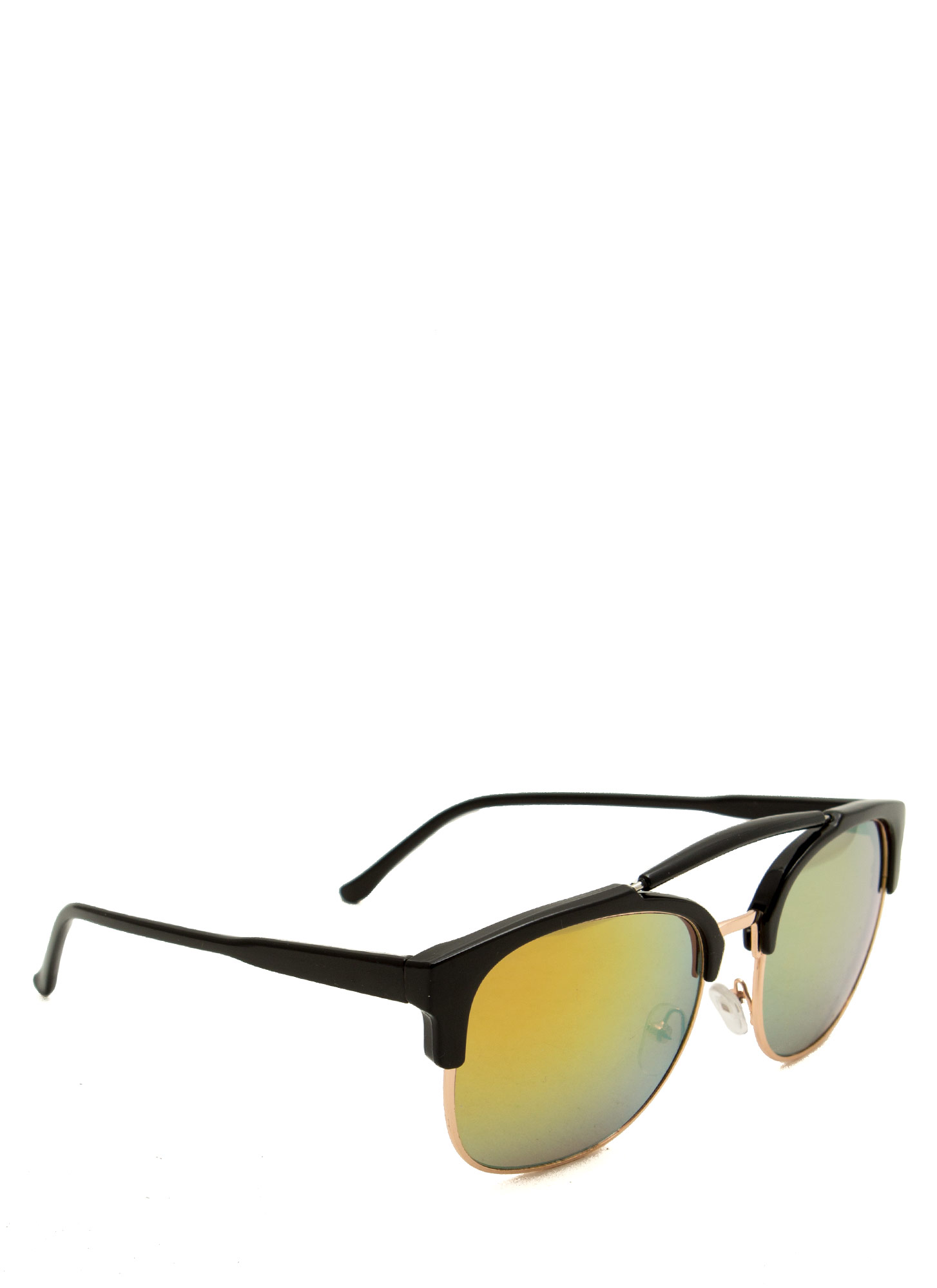 Top Bar Browline Sunglasses BLACKGOLD