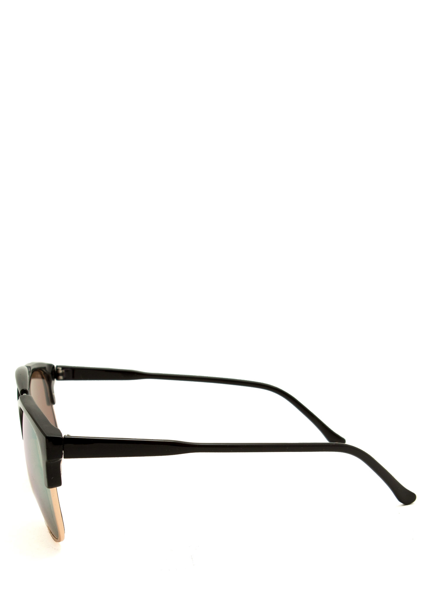 Top Bar Clubmaster Sunglasses BLACKGOLD