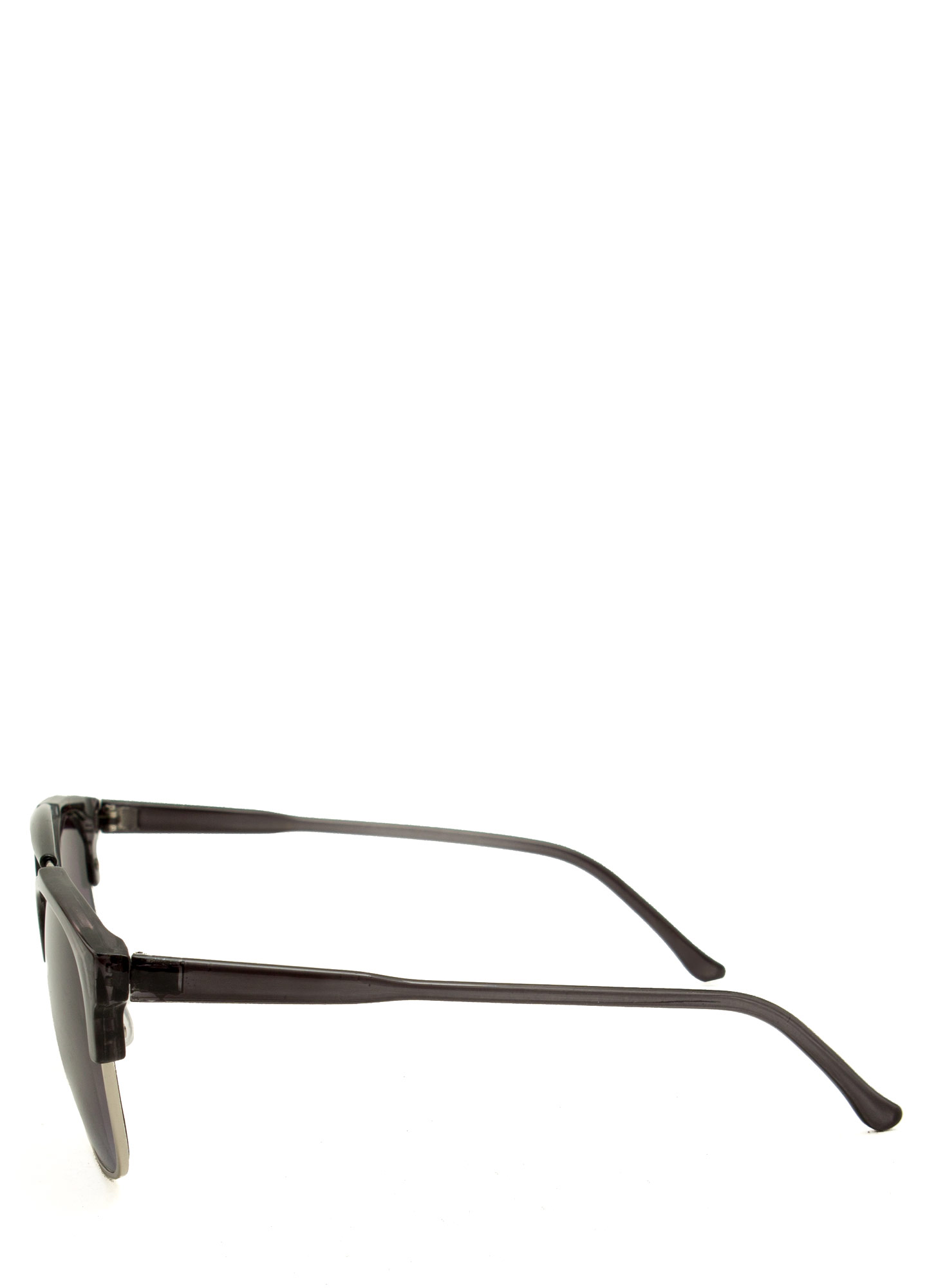 Top Bar Clubmaster Sunglasses BLACKSILVER