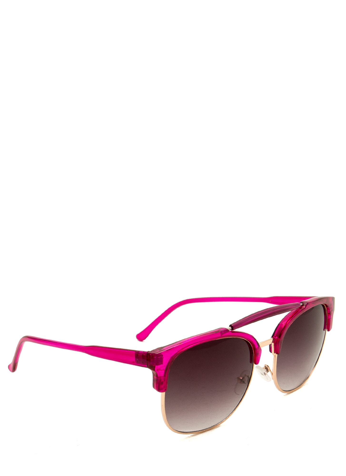 Top Bar Browline Sunglasses FUCHGOLD