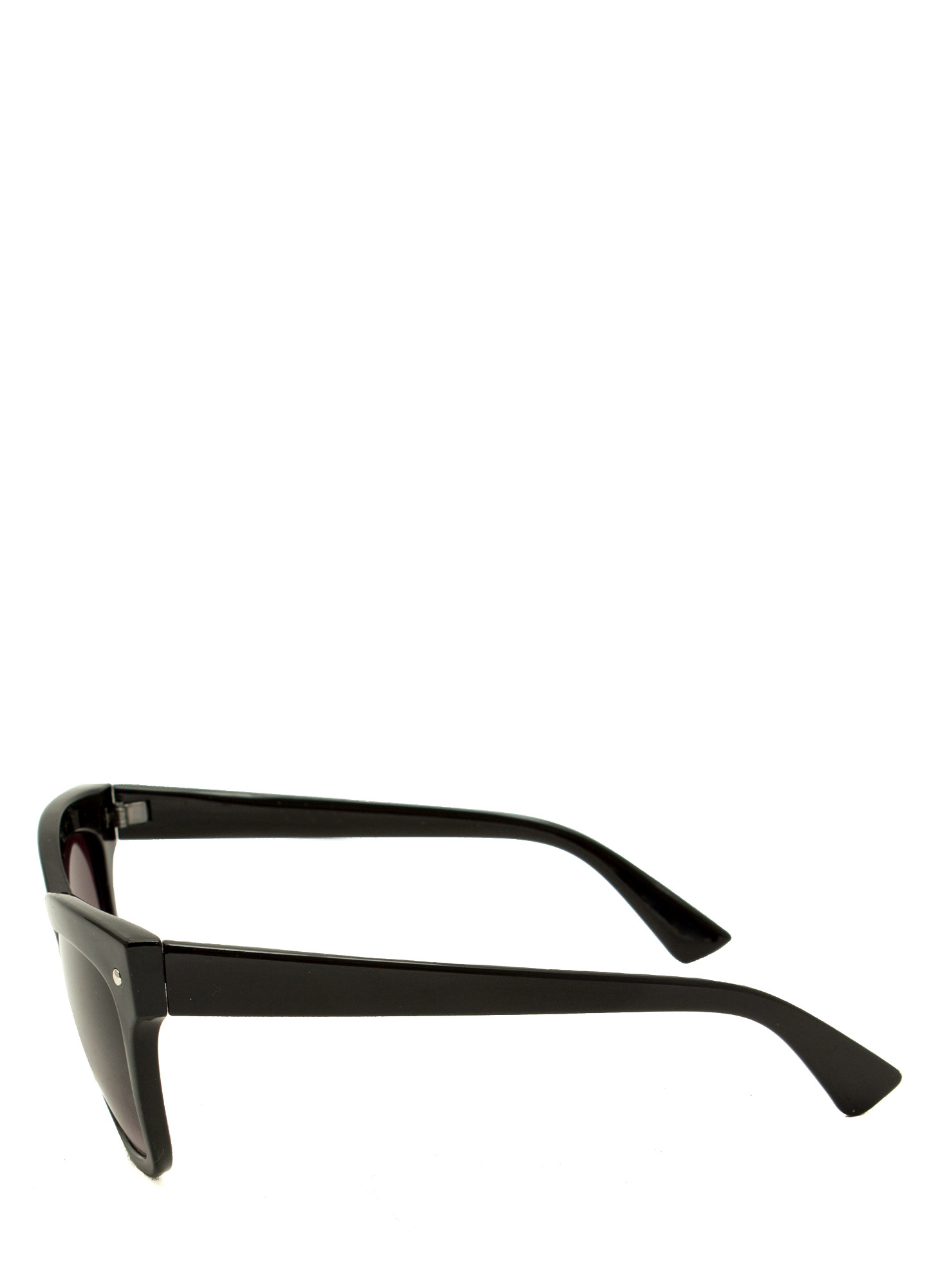 Modern Cat Eye Sunglasses BLACK