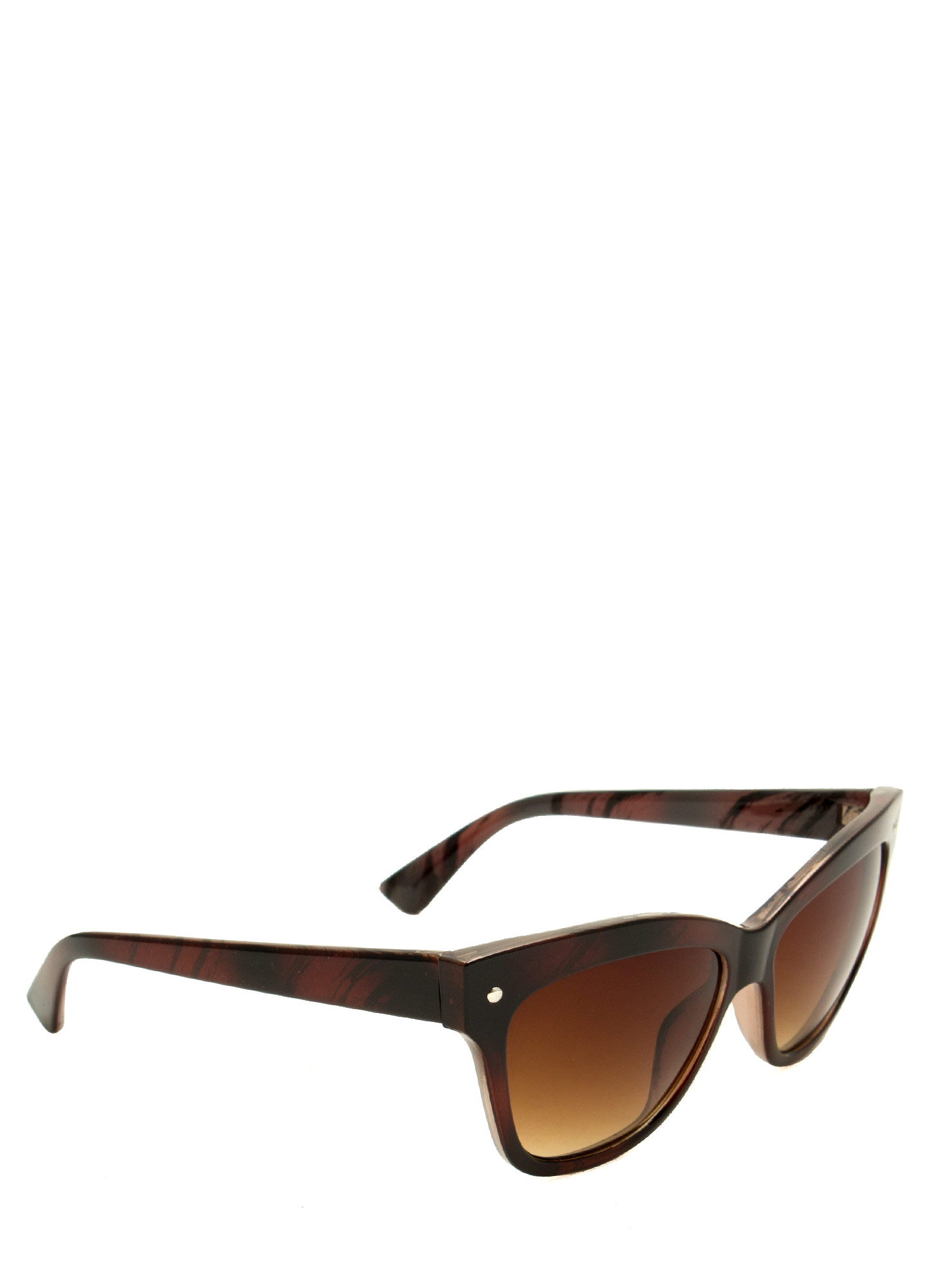 Modern Cat Eye Sunglasses BROWN