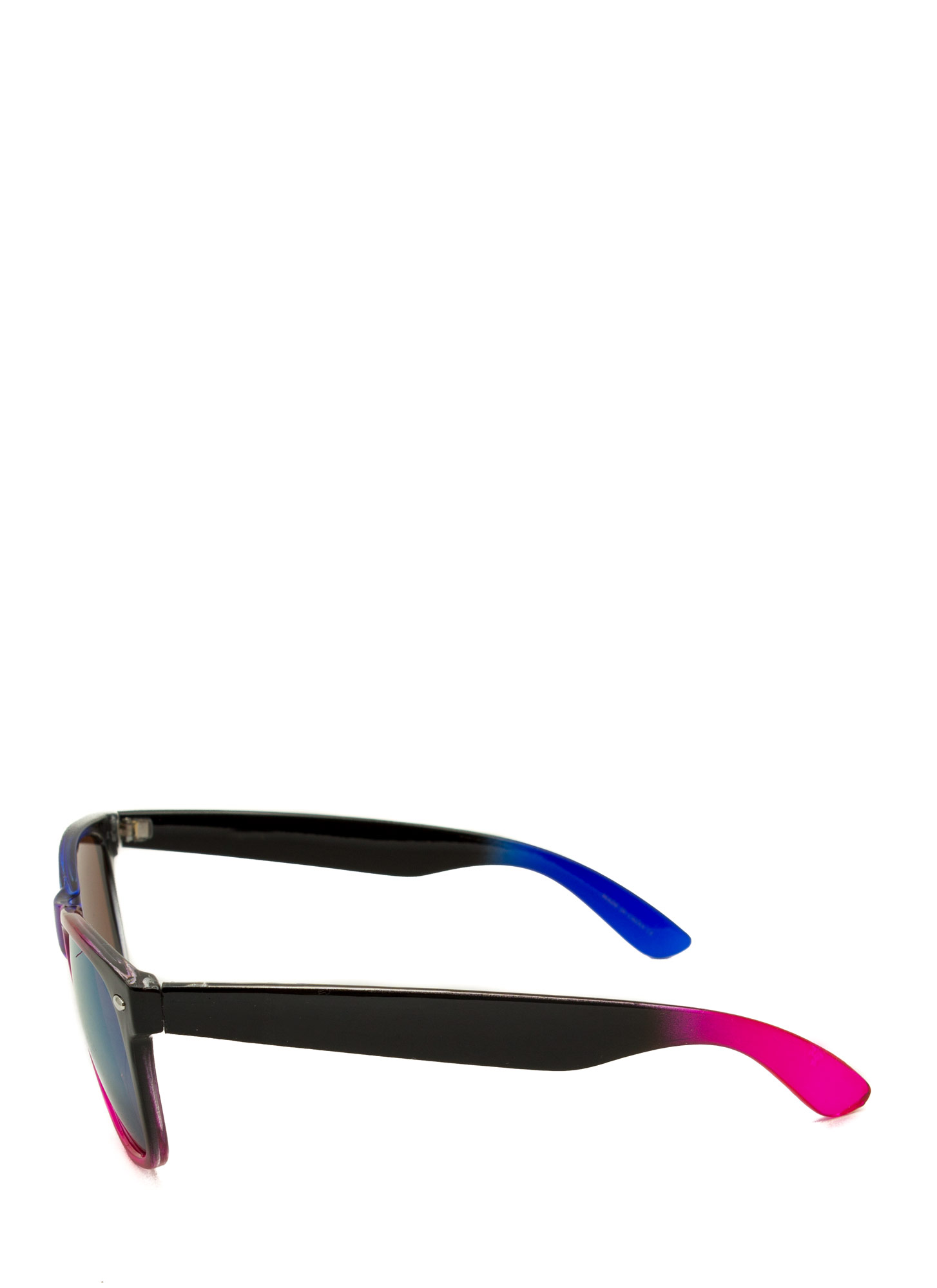 Multicolor Reflective Sunglasses BLUEMULTI