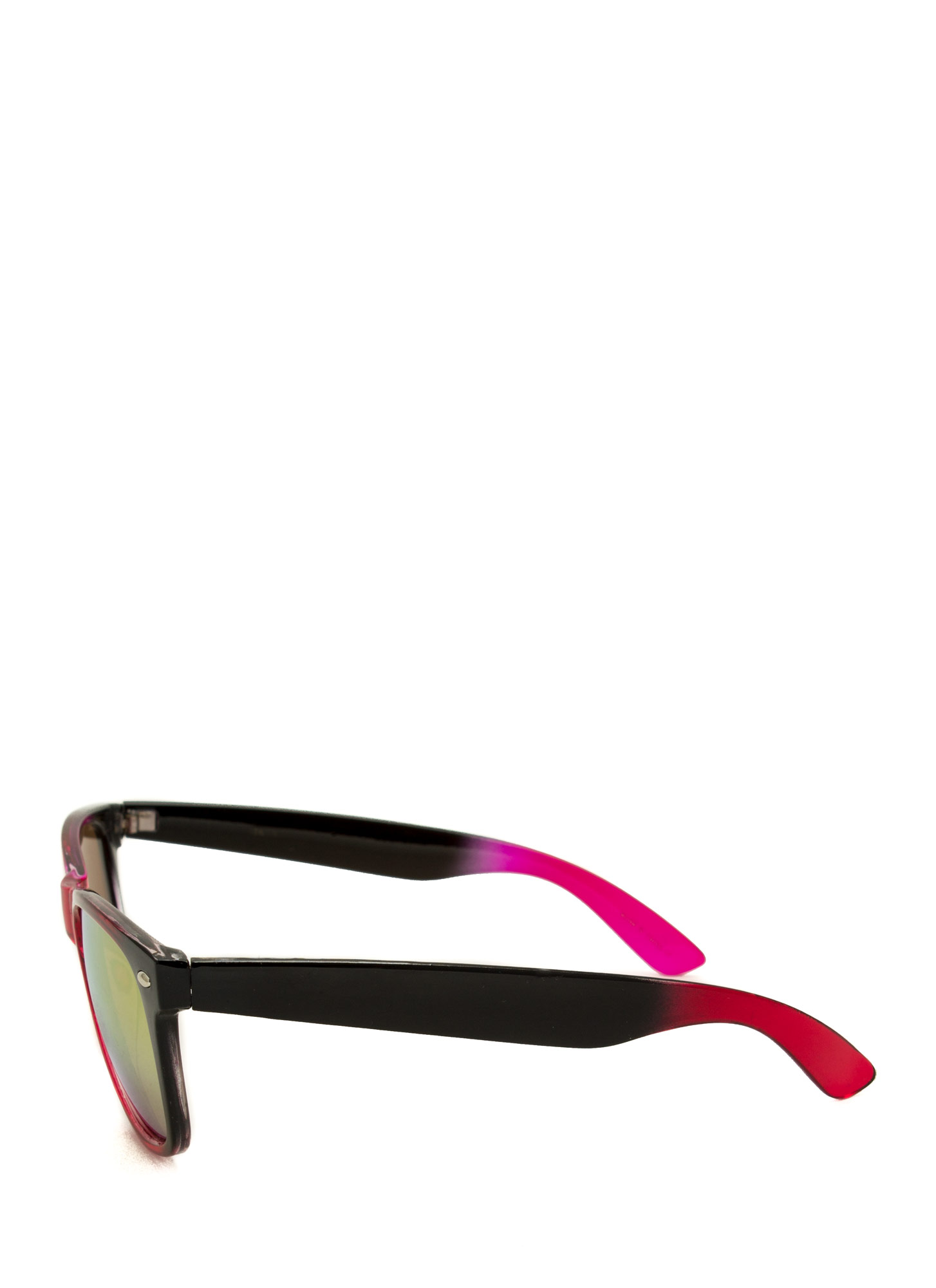 Multicolor Reflective Sunglasses FUCHMULTI