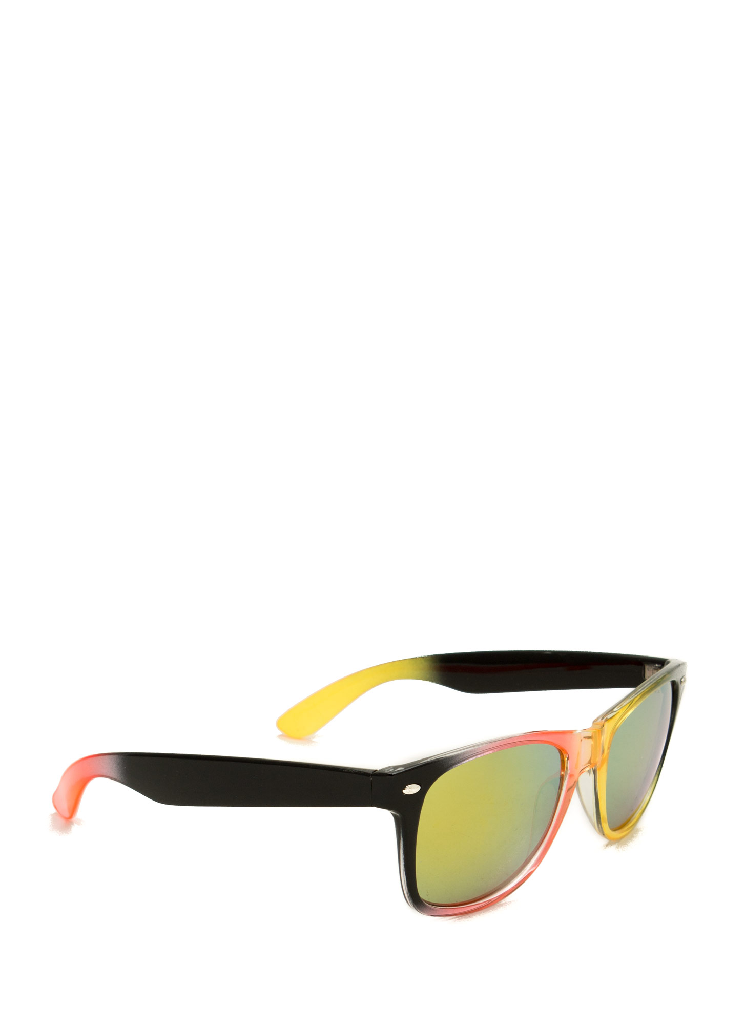 Multicolor Reflective Sunglasses ORANGEMULT