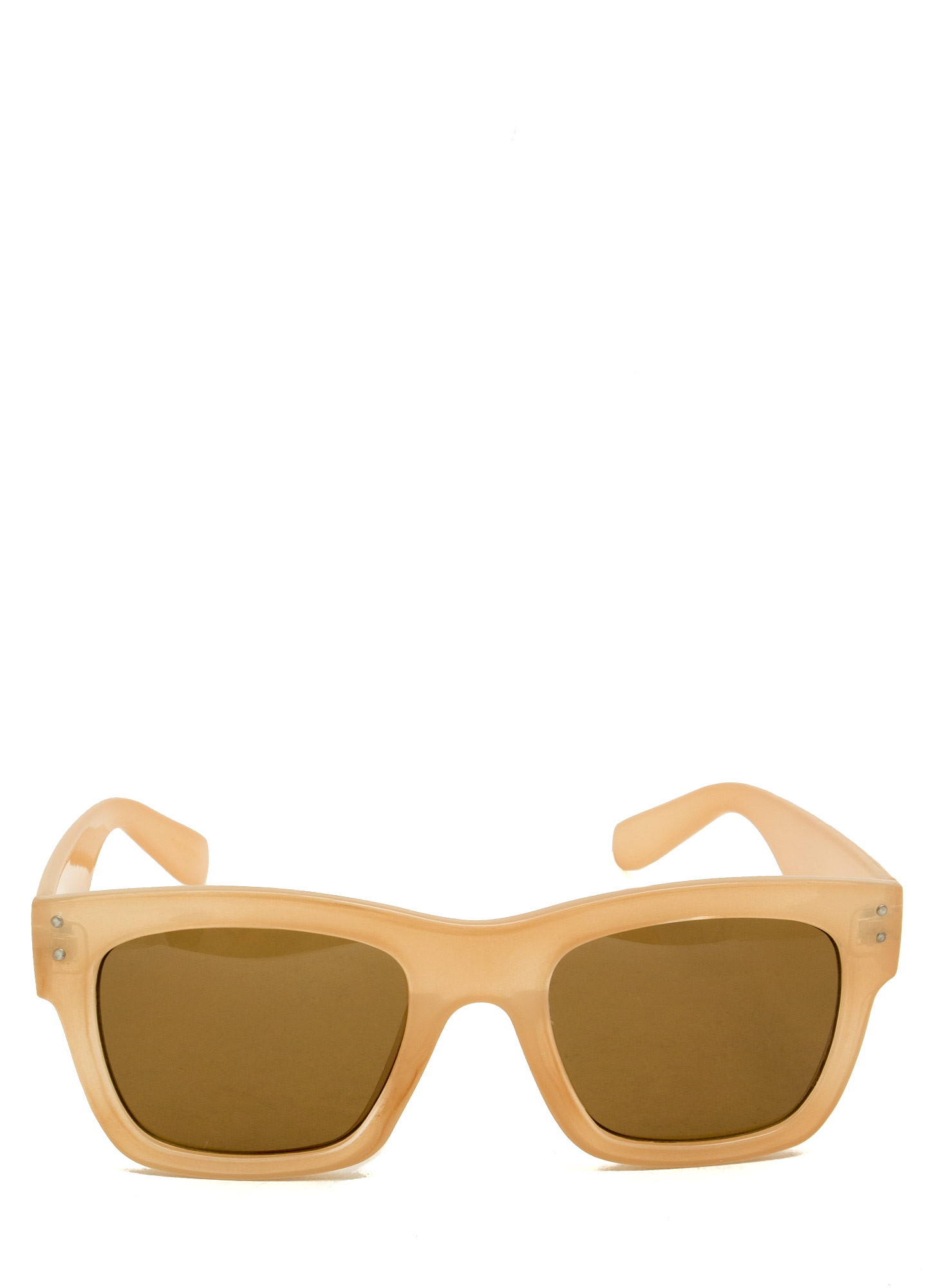 Retro Square Sunglasses BEIGE