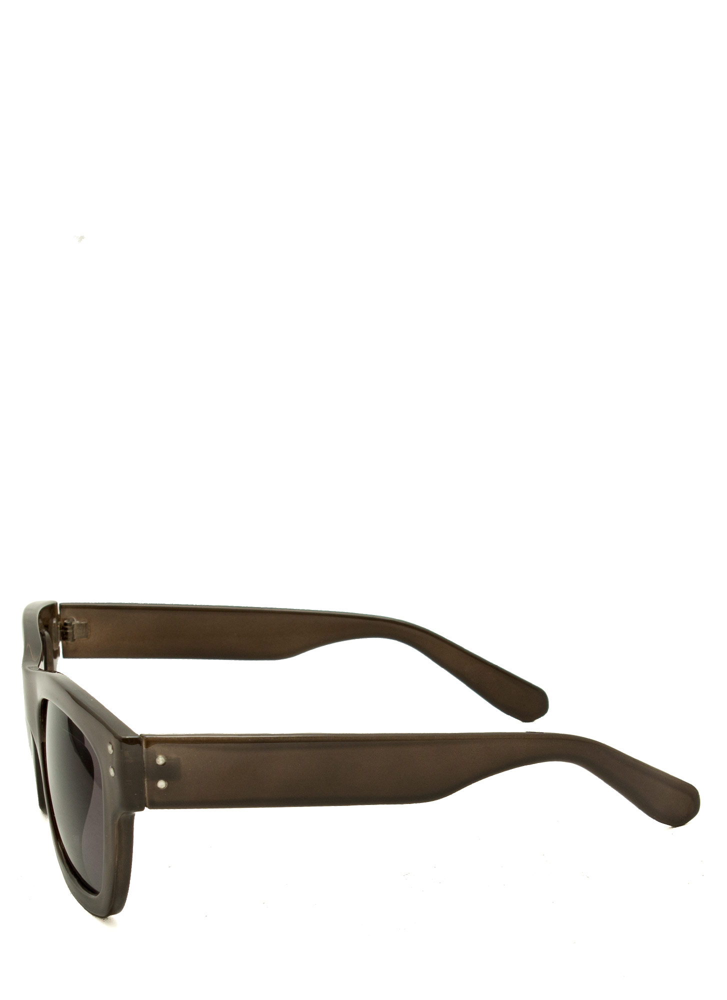 Retro Square Sunglasses GREY