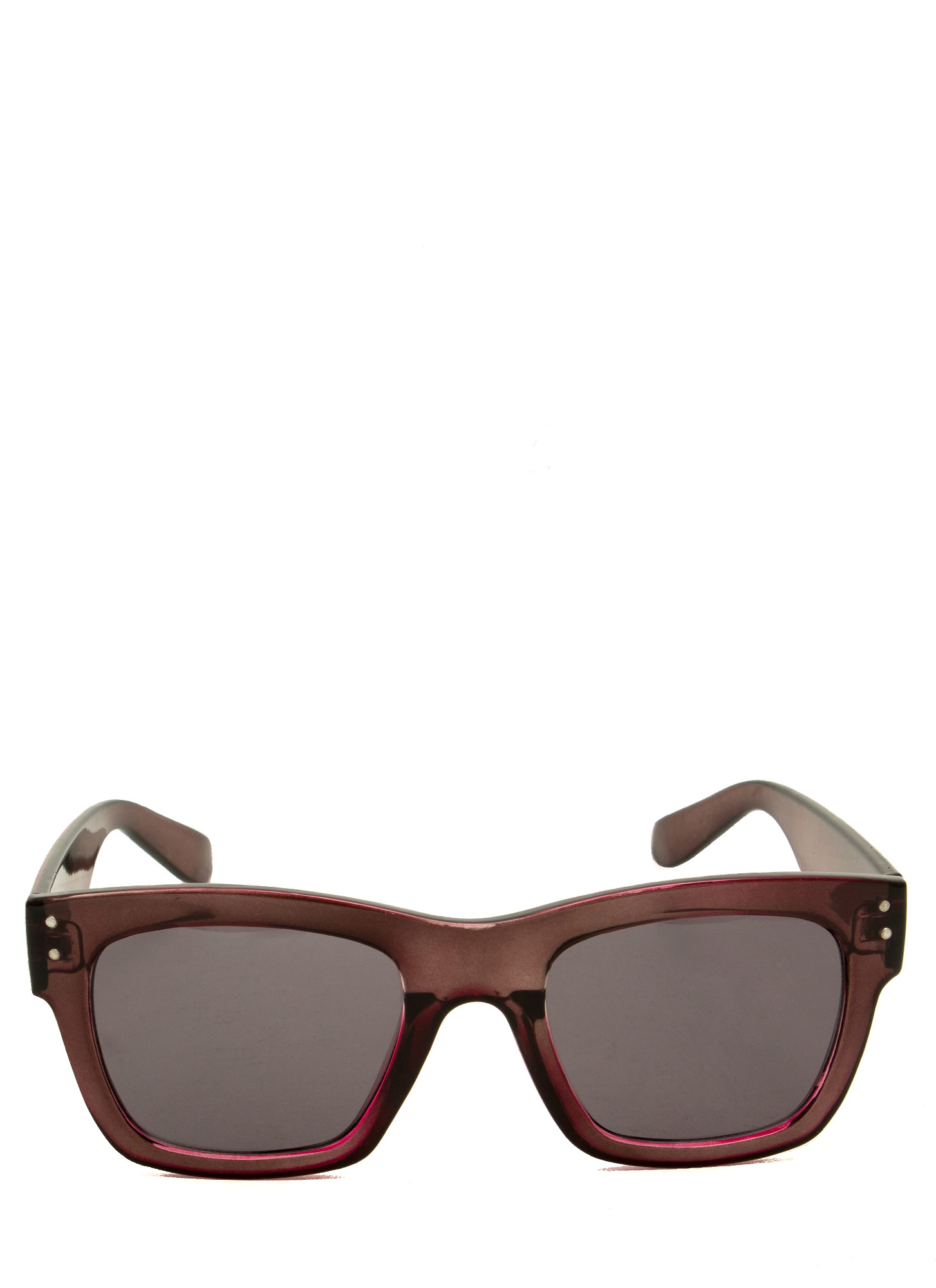 Retro Square Sunglasses PURPLE