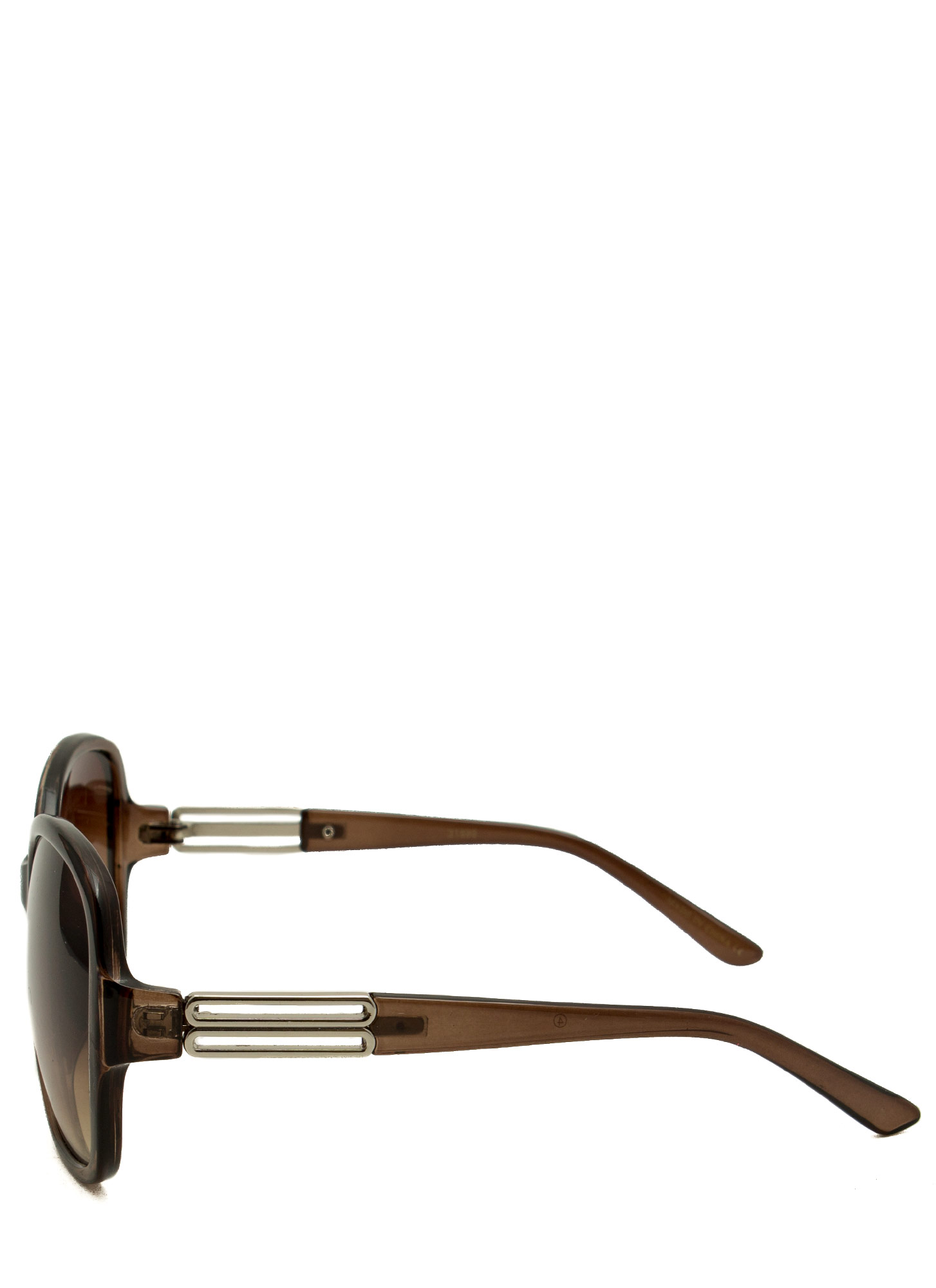 Oversized Metallic Accent Sunglasses DKBROWN