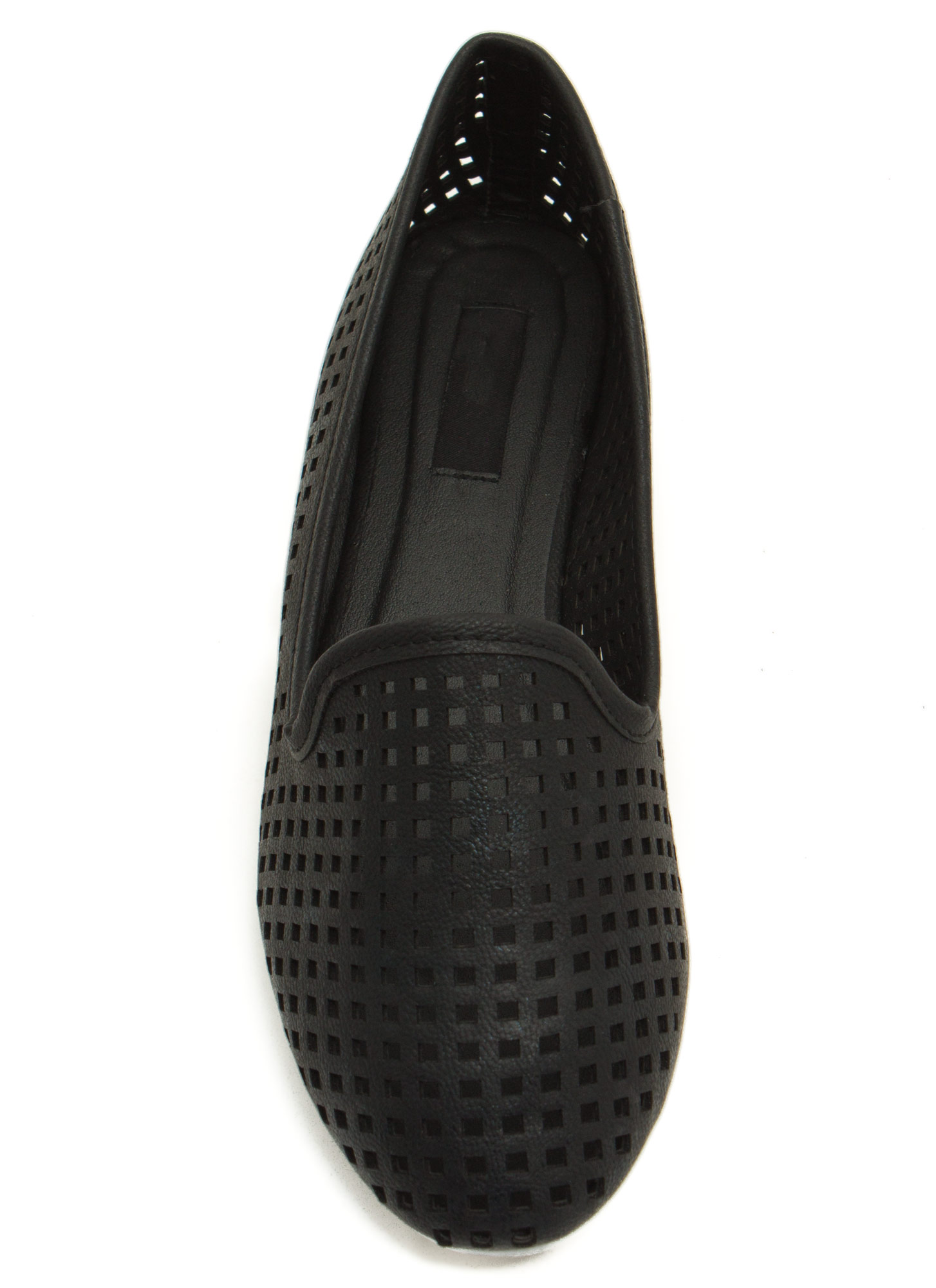 Per forated Ten Smoking Flats BLACK    (Final Sale)