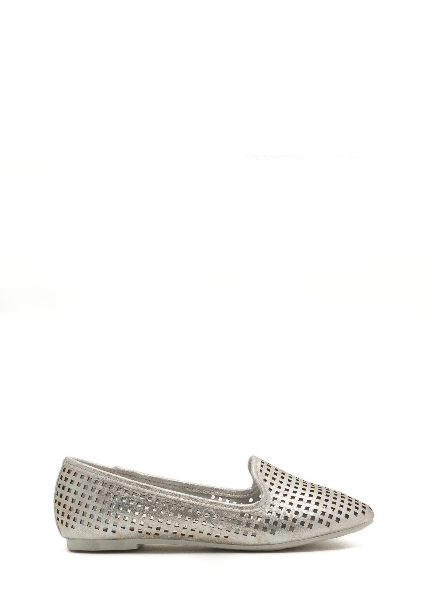 Per-forated Ten Smoking Flats SILVER