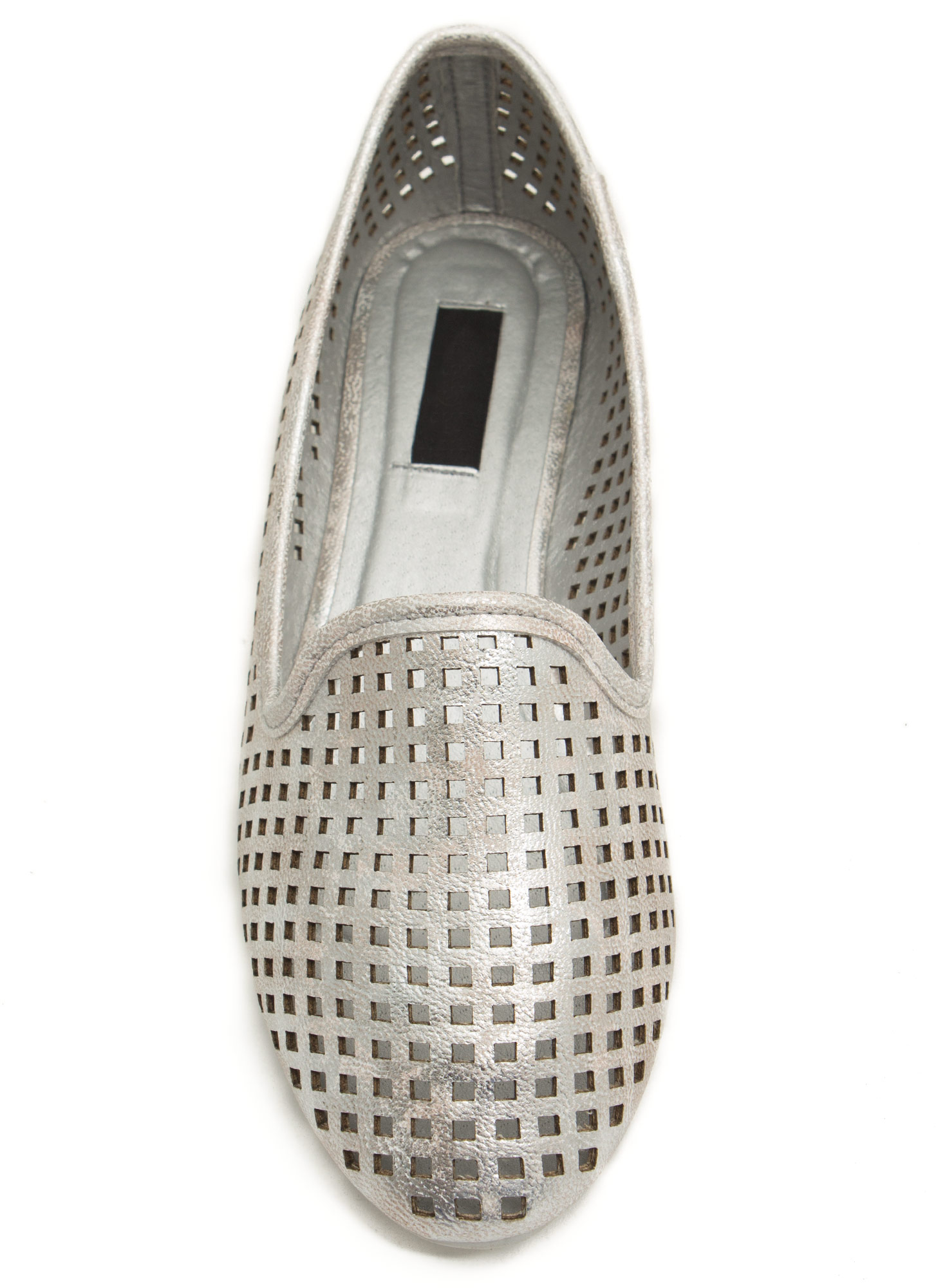 Per forated Ten Smoking Flats SILVER  (Final Sale)