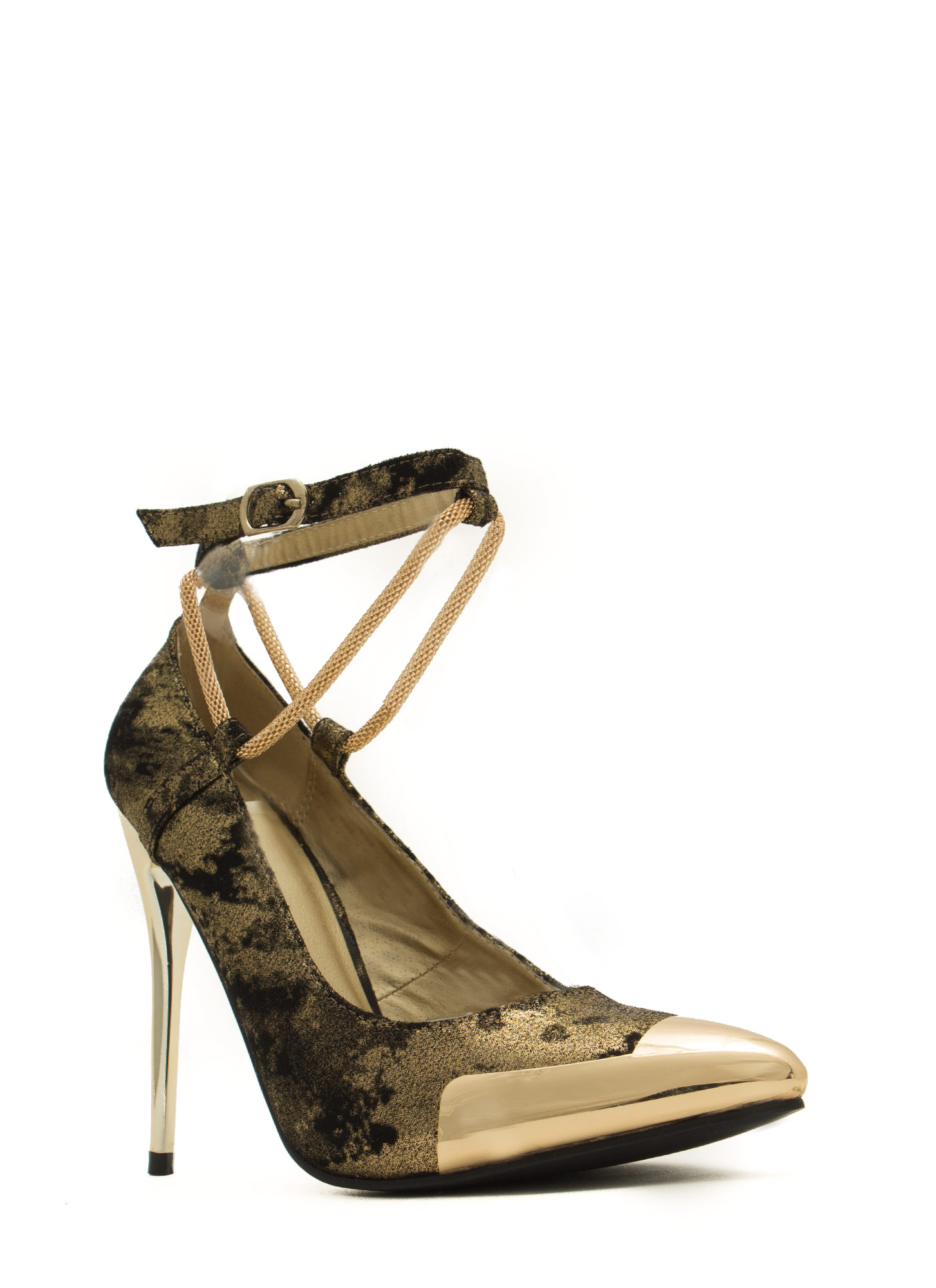Good Point Plated Snake Chain Heels GOLDMULTI
