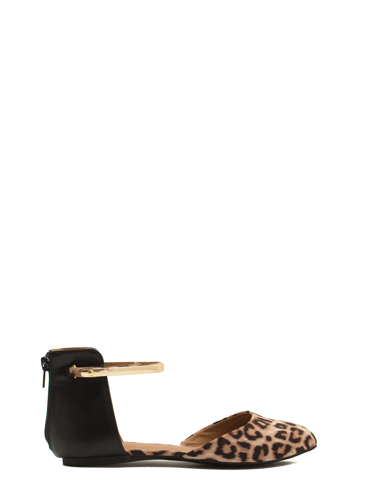 Set The Bar Ankle Strap D'Orsay Flats CAMEL