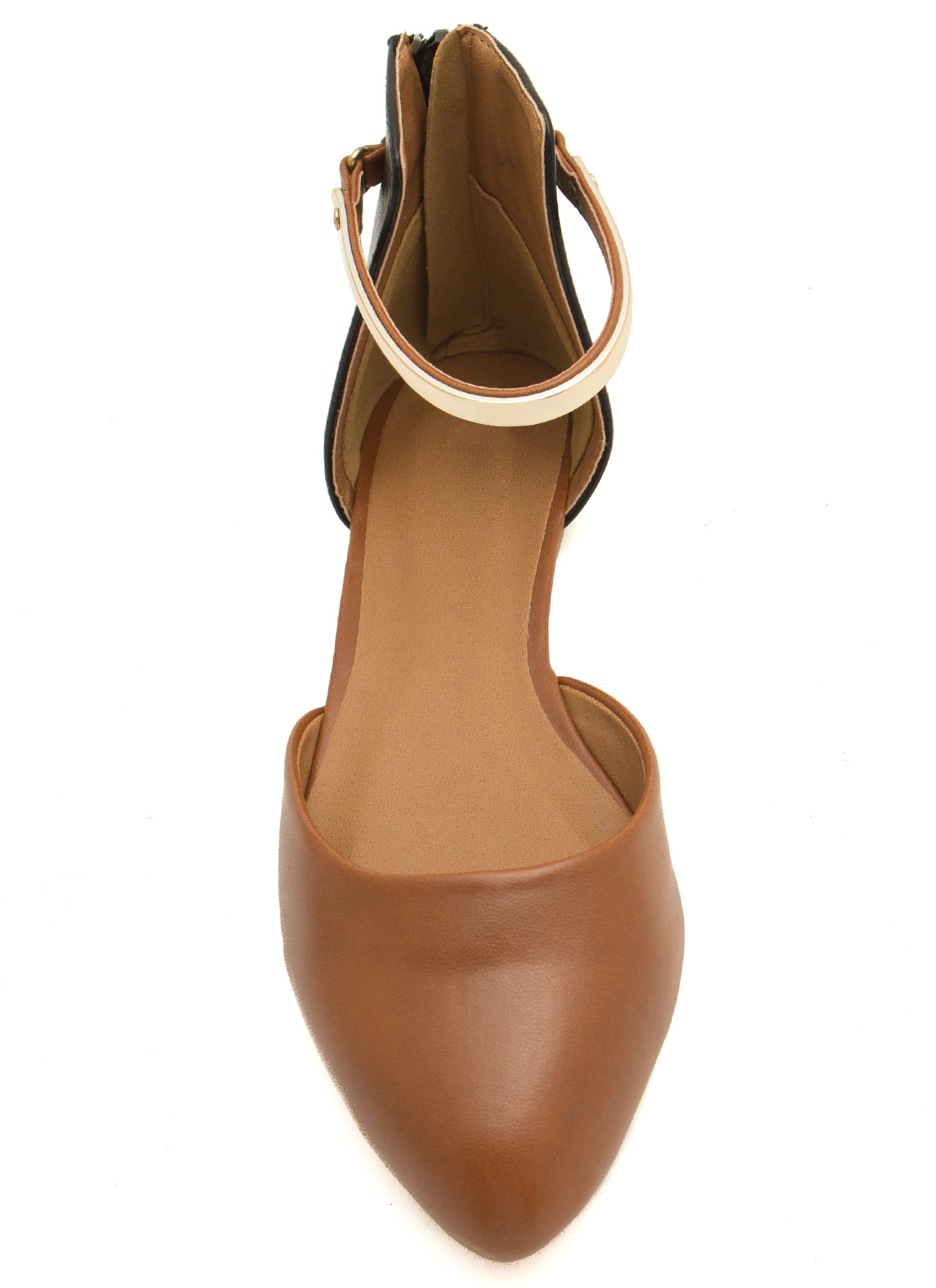 Set The Bar Ankle Strap D'Orsay Flats RUST