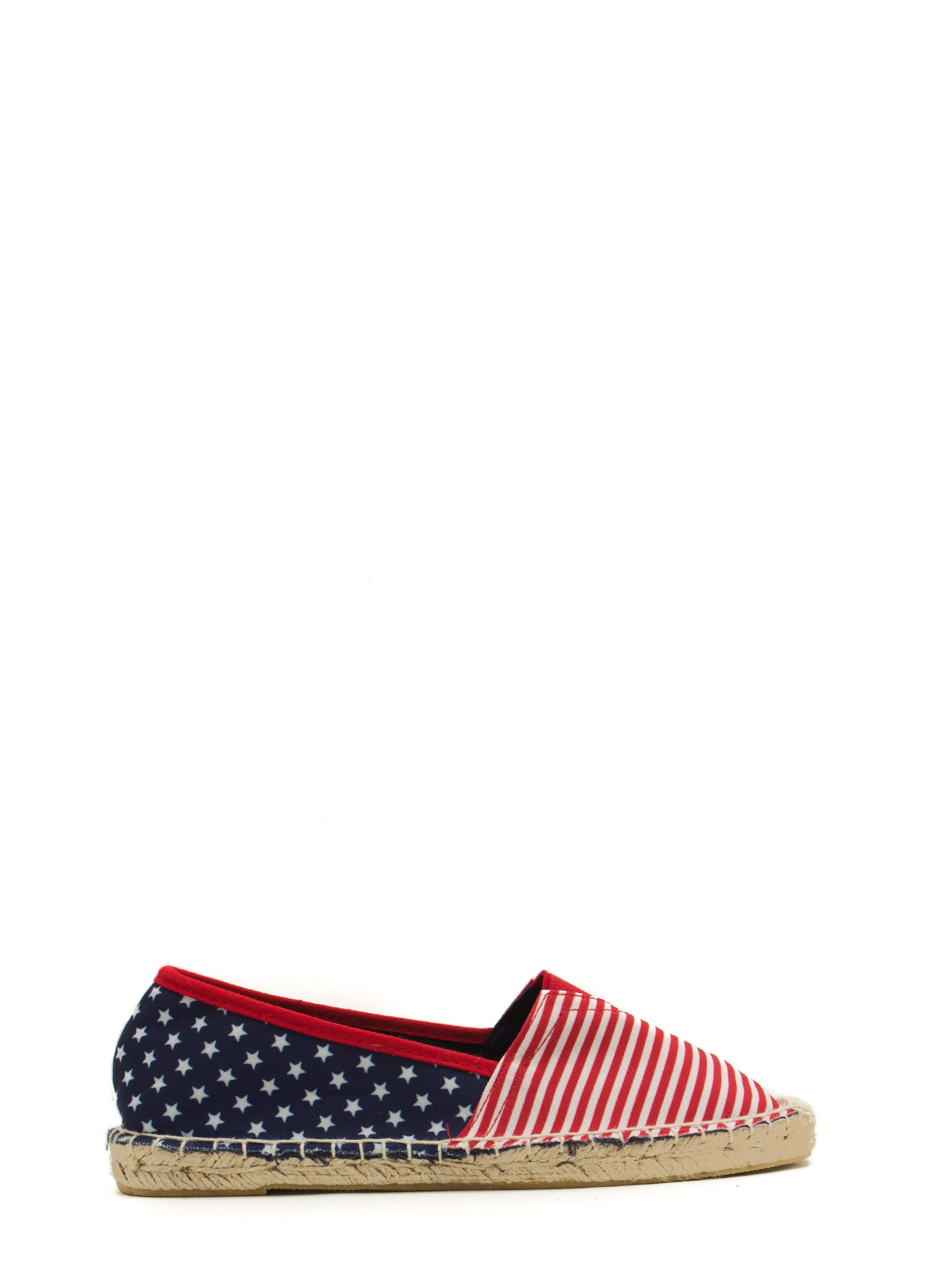 Pretty Patriotic Espadrille Flats FLAG
