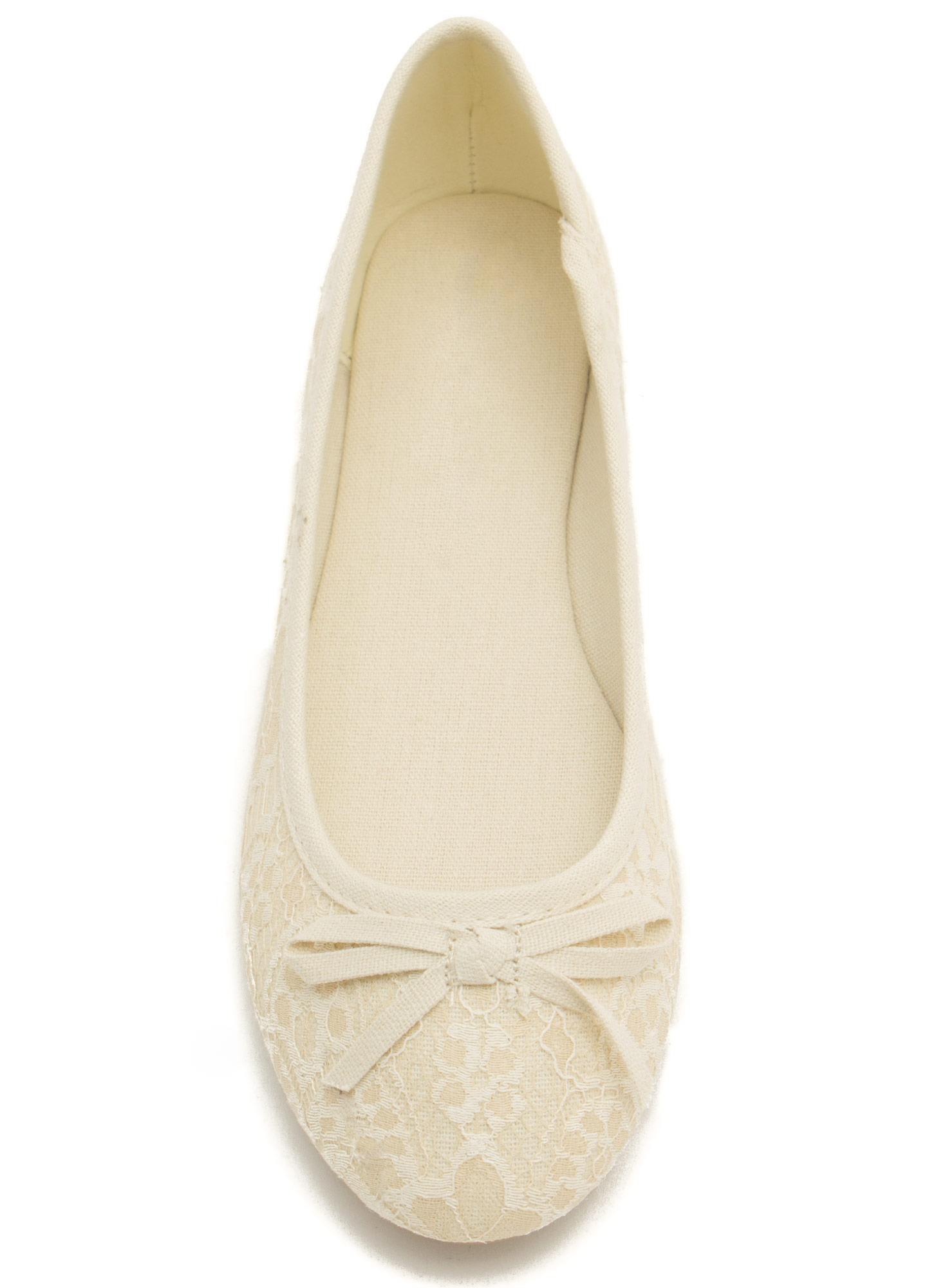 Lacy Ballet Flats OFFWHITE