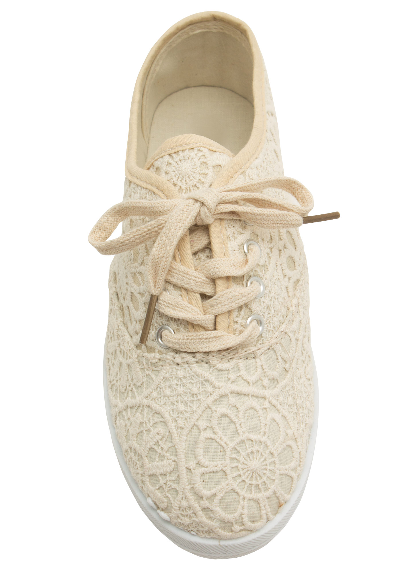 Embroidered Sneakers BEIGE