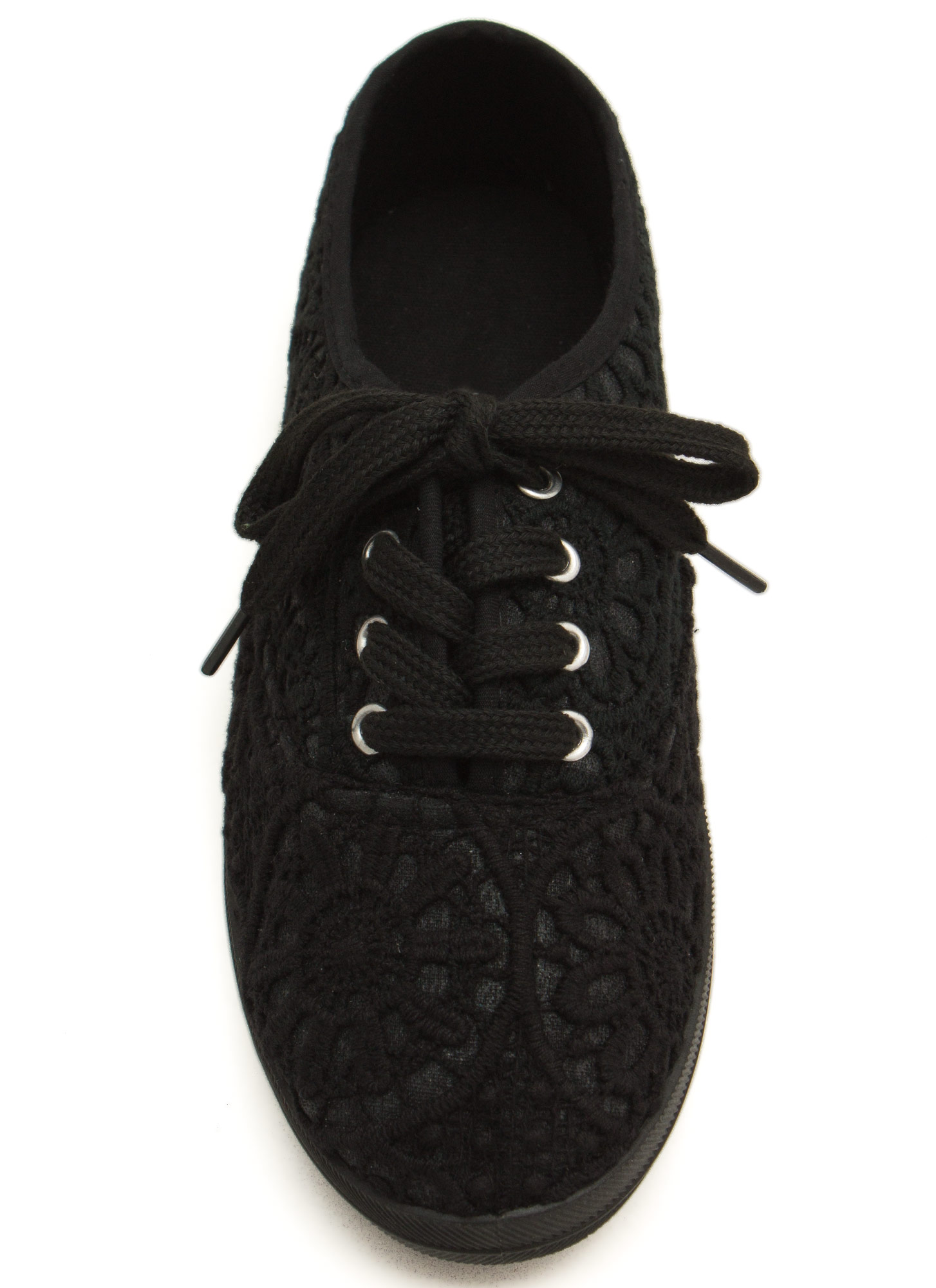 Embroidered Sneakers BLACK