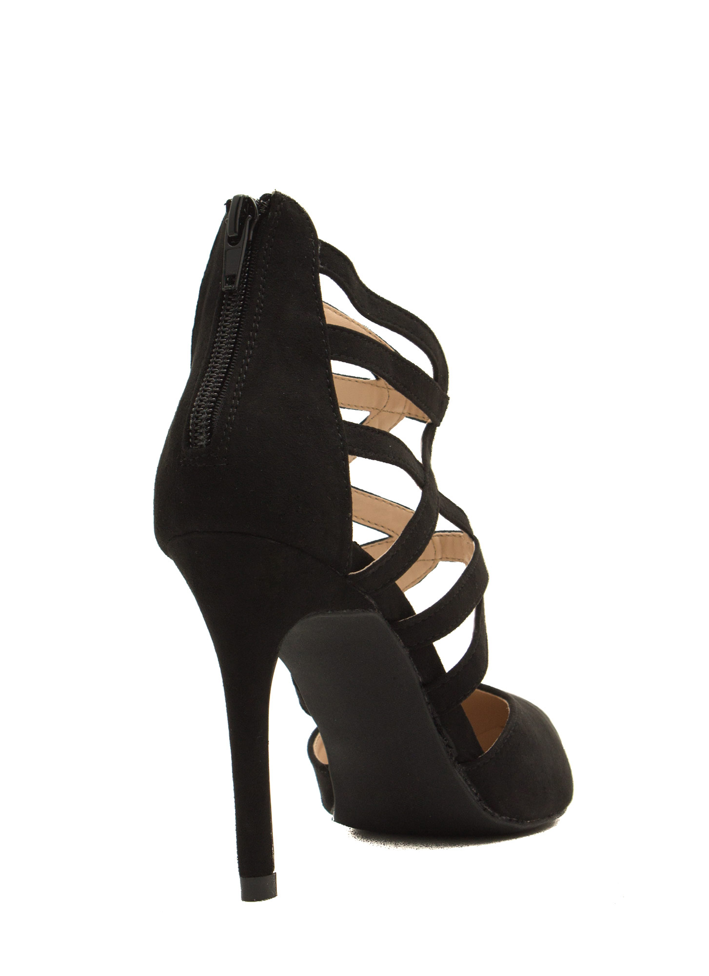 What's Ur Angle Cut-Out Heels BLACK