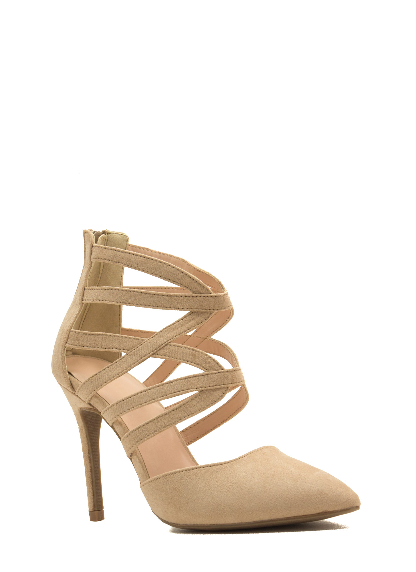 What's Ur Angle Cut-Out Heels NATURAL