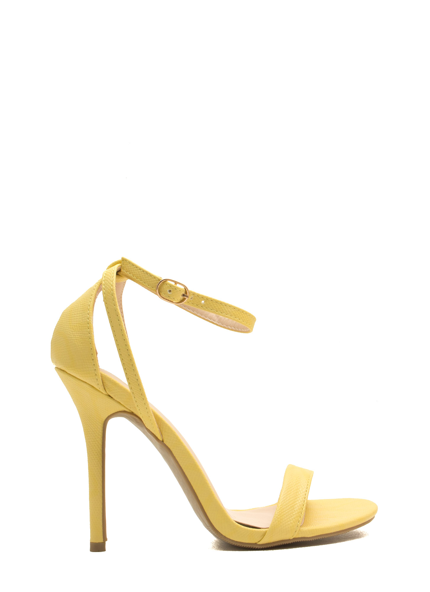 Snake Around Single-Strap Heels LTYELLOW