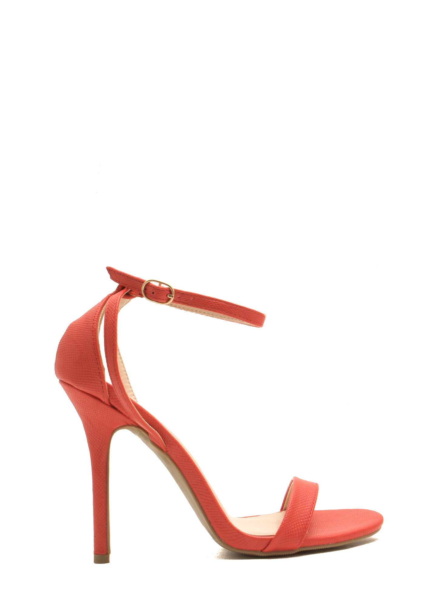 Snake Around Single-Strap Heels ORANGE