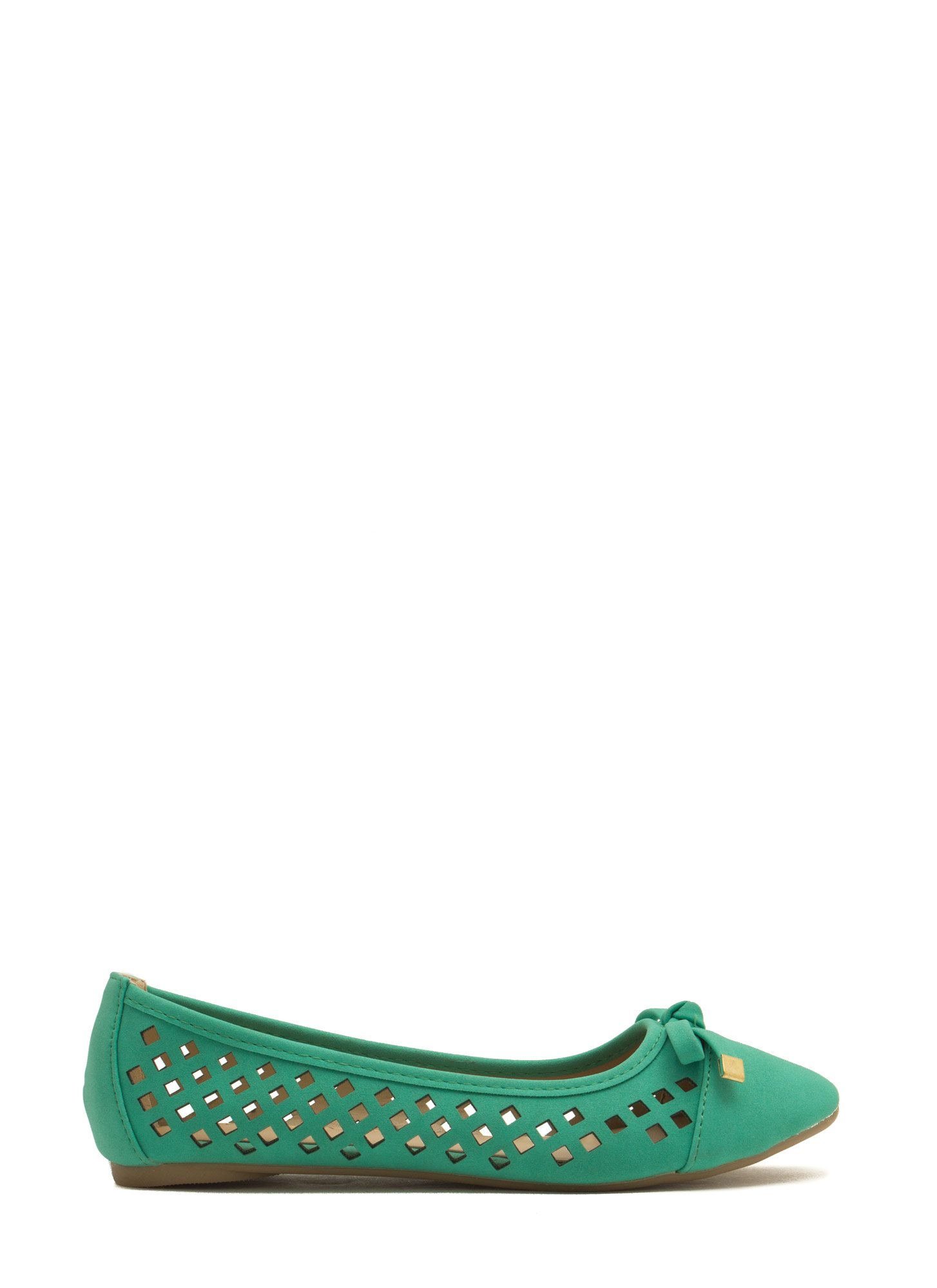 Feel My Pane Laser-Cut Bow Tied Flats MINT