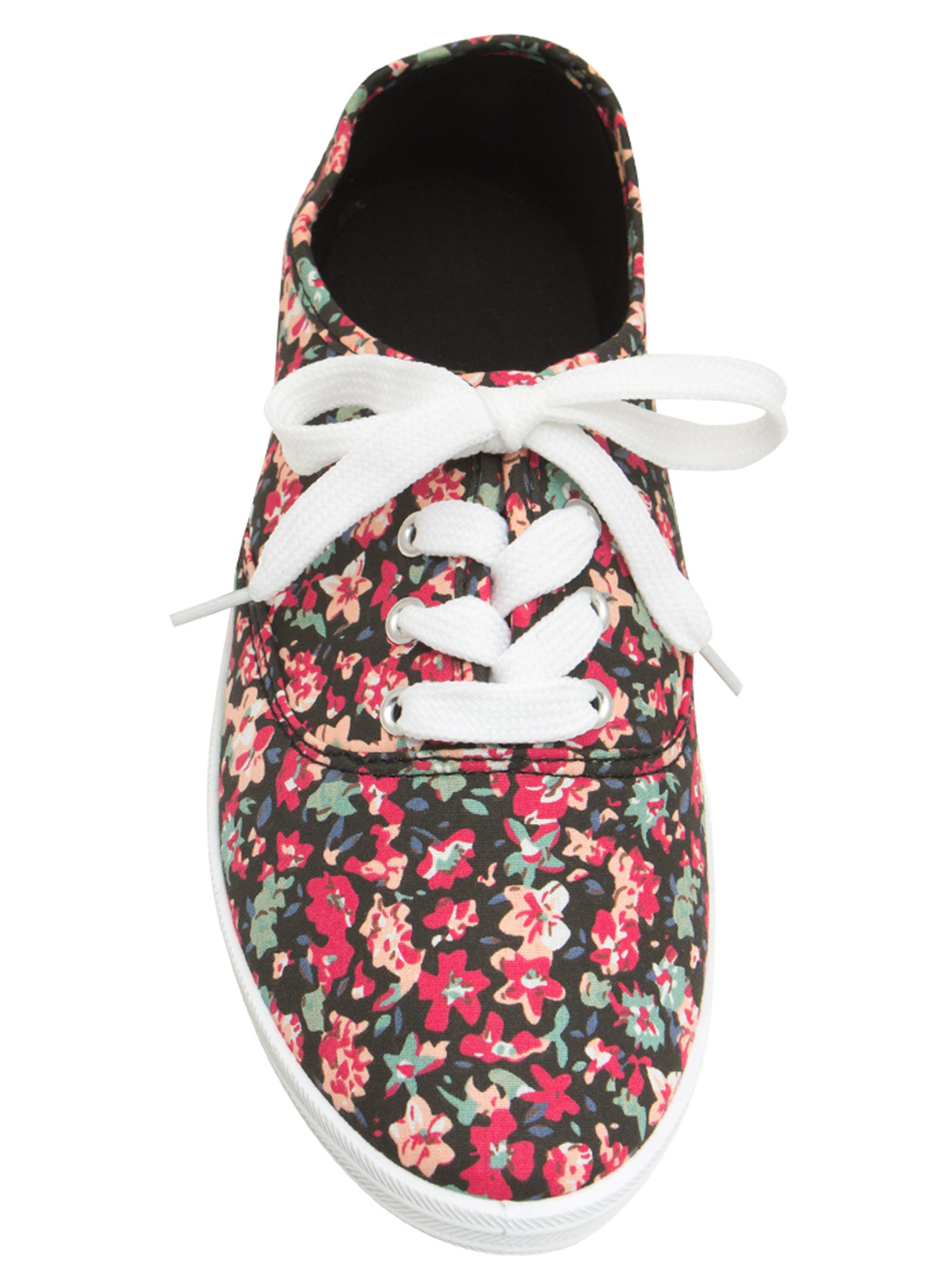 Floral Daze Lace-Up Sneakers BLACK