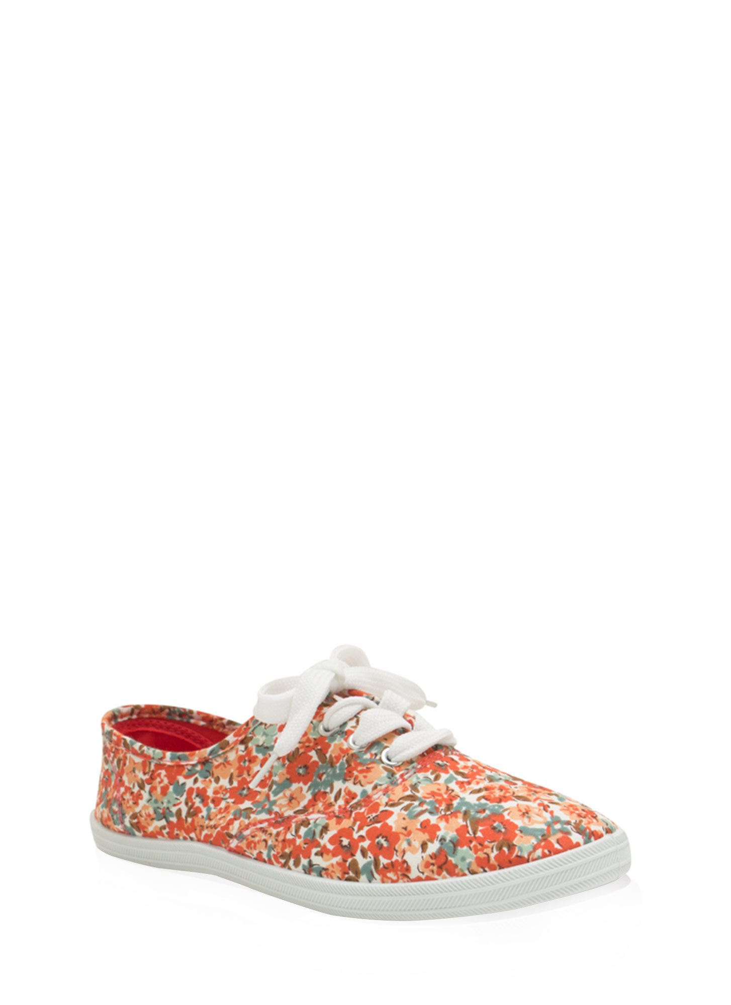 Floral Daze Lace-Up Sneakers CORALMULTI