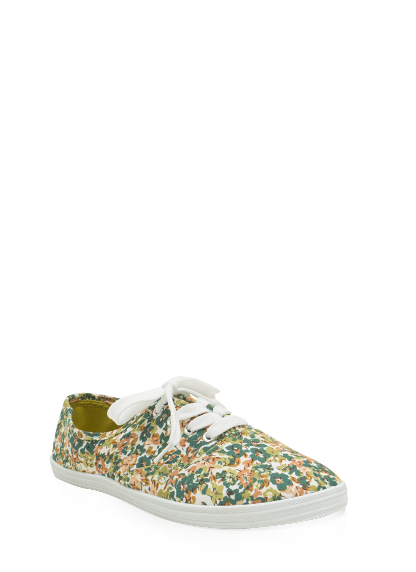 Floral Daze Lace-Up Sneakers GREENMULTI