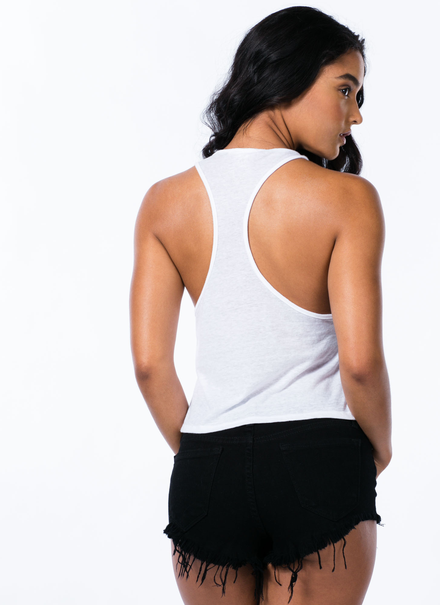 Killin' It Graphic Racerback Tank WHITE