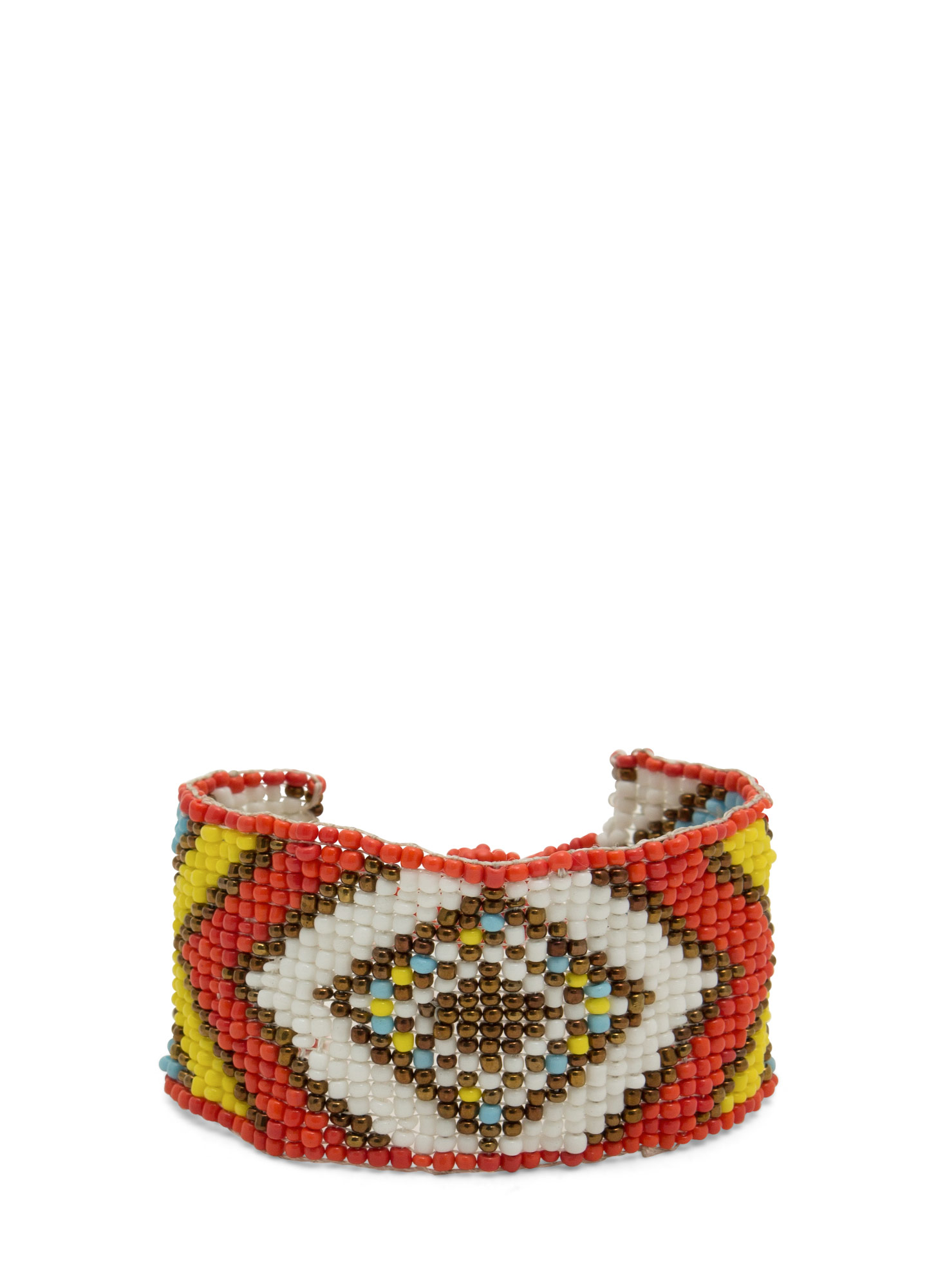Beaded Tribal-Inspired Bracelet ORANGEMULT