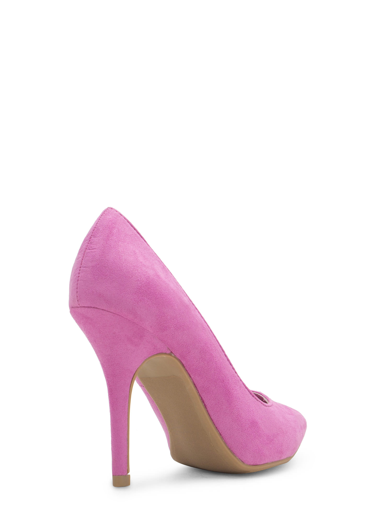 To The Point Faux Suede Heels ORCHID