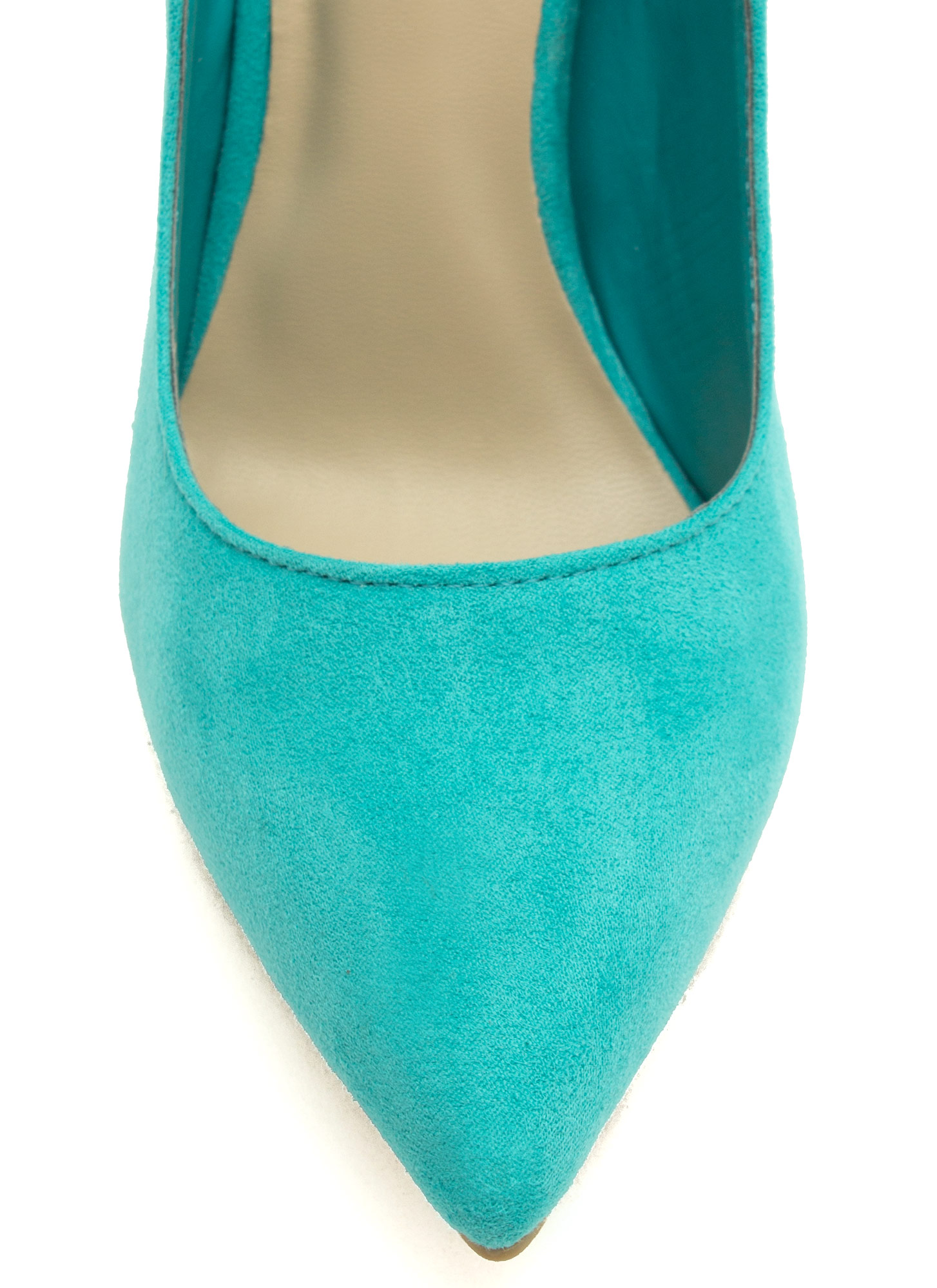 To The Point Faux Suede Heels TURQUOISE