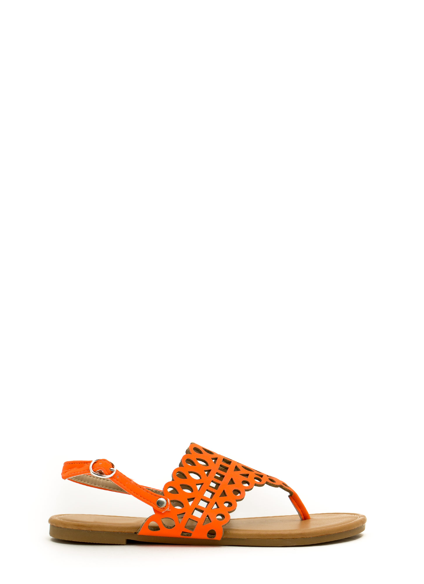 Made The Cut-Out Thong Sandals NEONORANGE