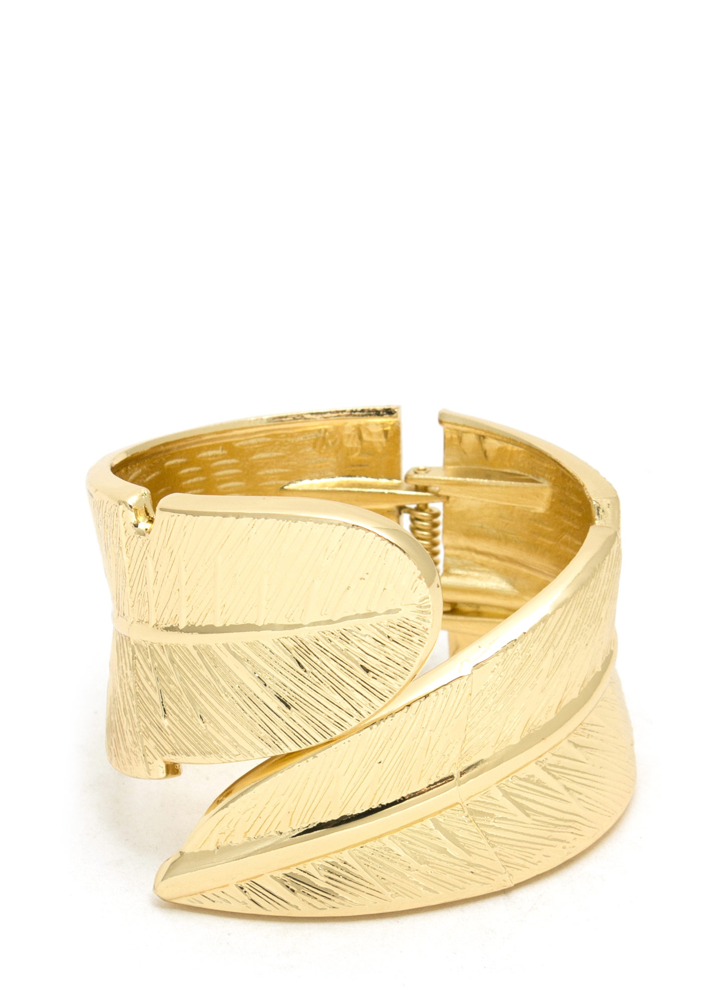 Birds Of A Feather Hinge Bracelet GOLD