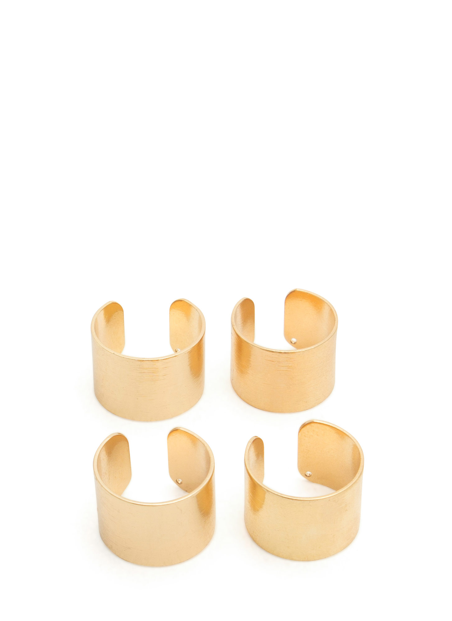 Brushed Metal Ring Set GOLD