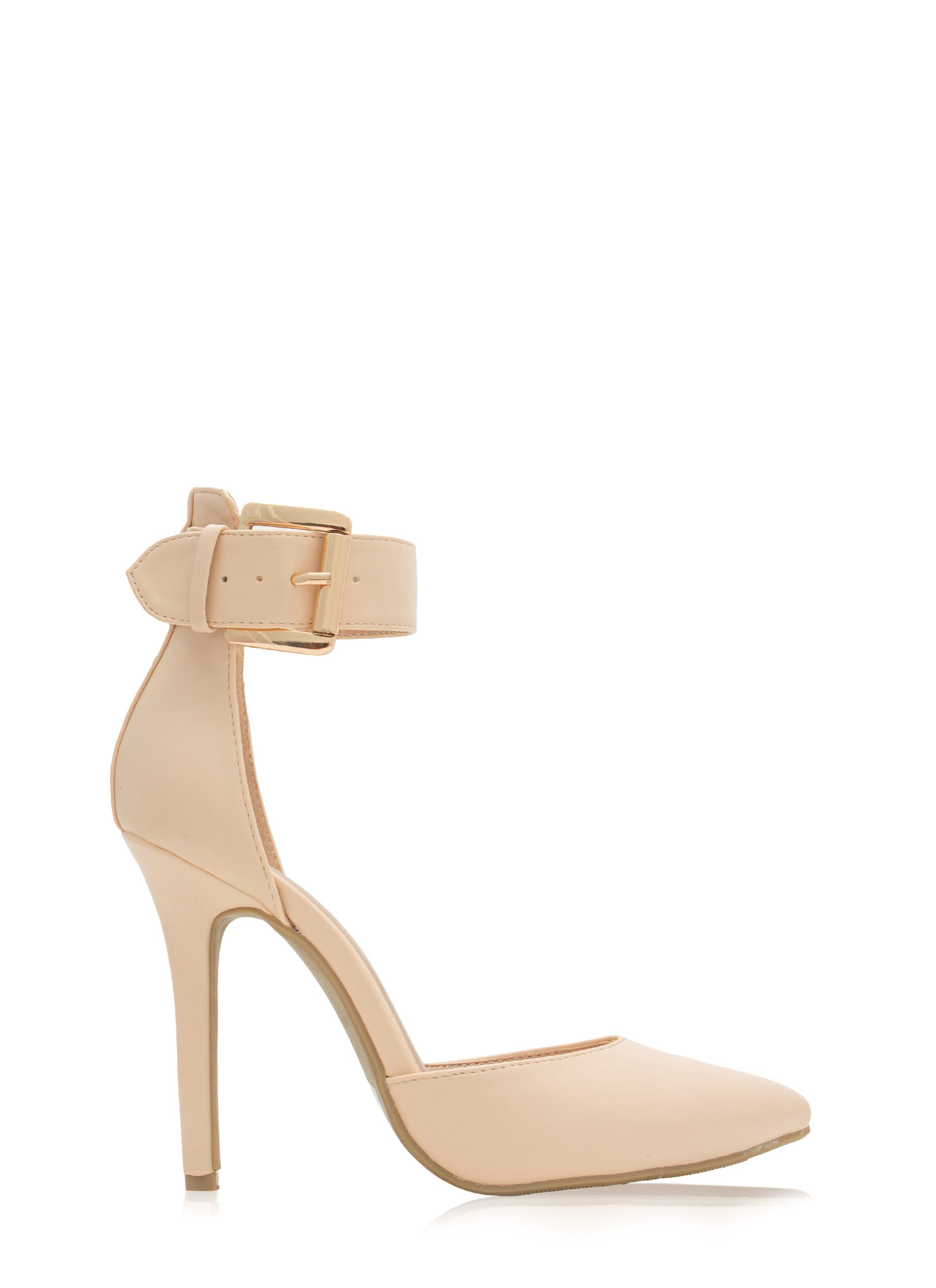 What Did U D'Orsay Faux Leather Heels NUDE (Final Sale)