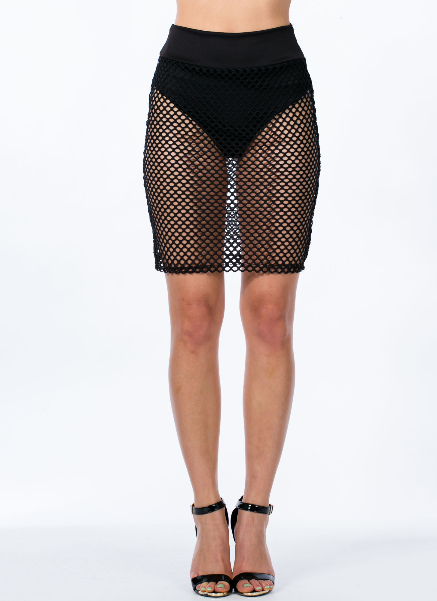 Nothin' But Net Brief Skirt BLACK