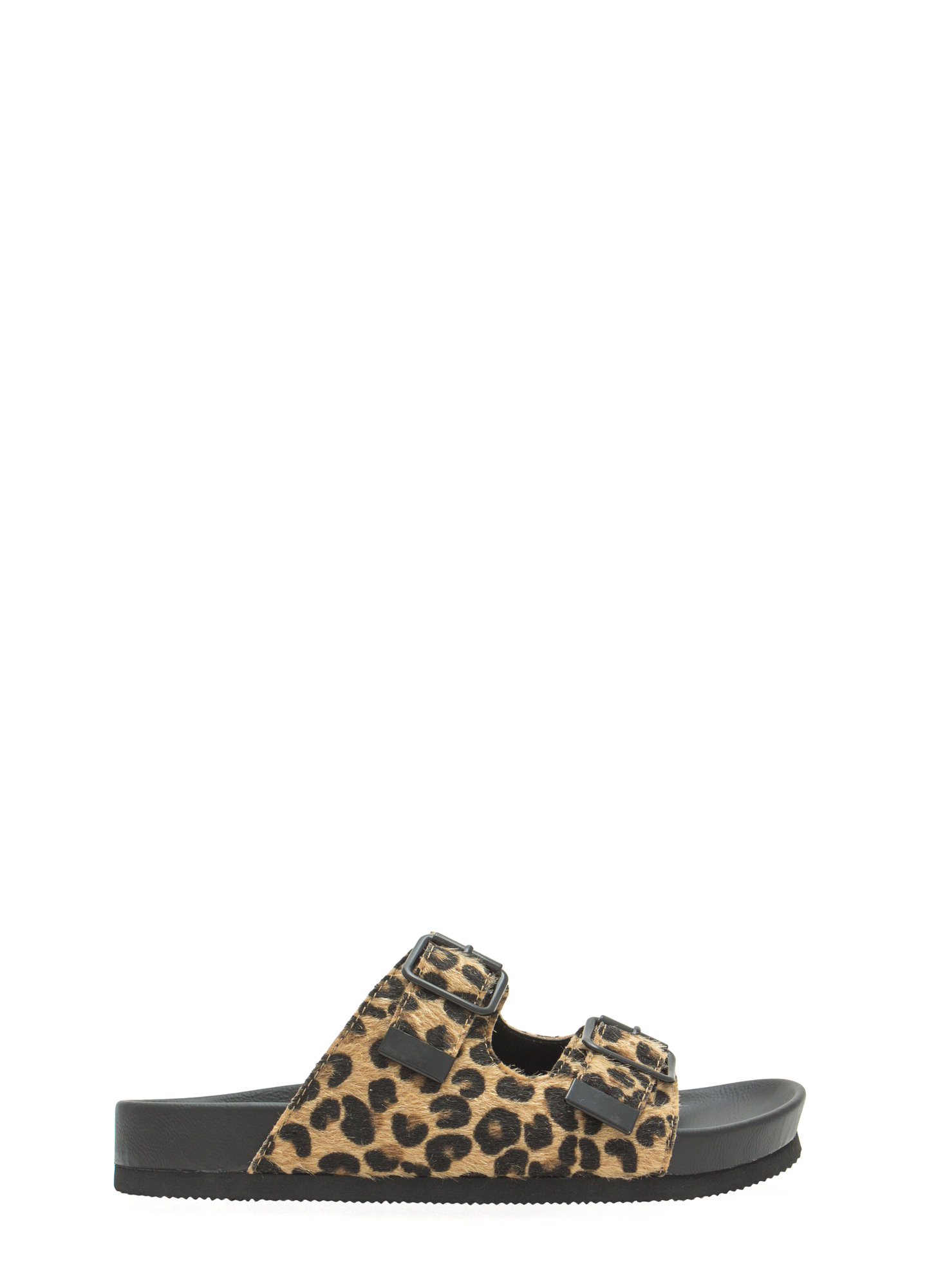 Not So Granola Slide Sandals TANLEOPARD