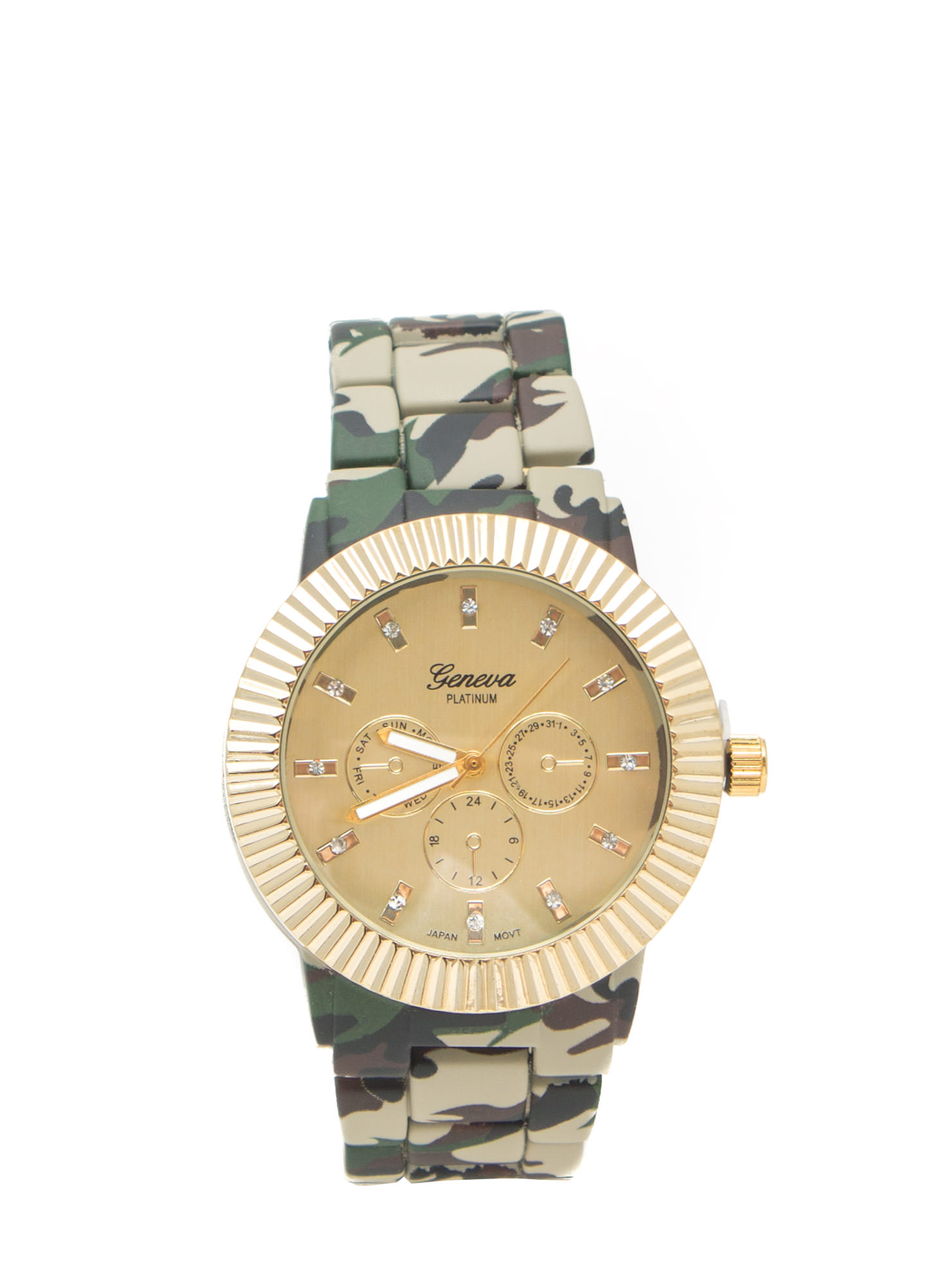 Floral Print Coated Watch CAMO