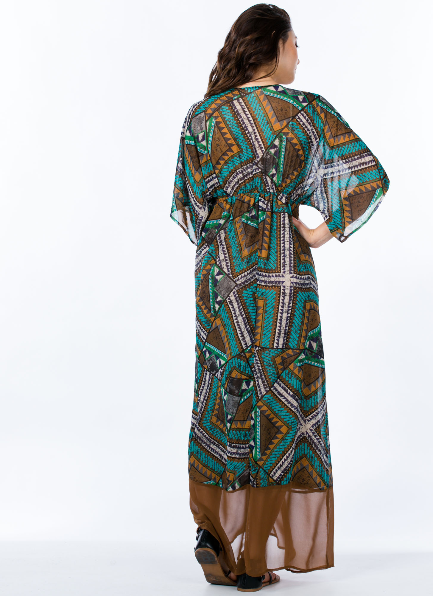 Tap Into Tapestry Tribal Print Maxi TURQUOISE