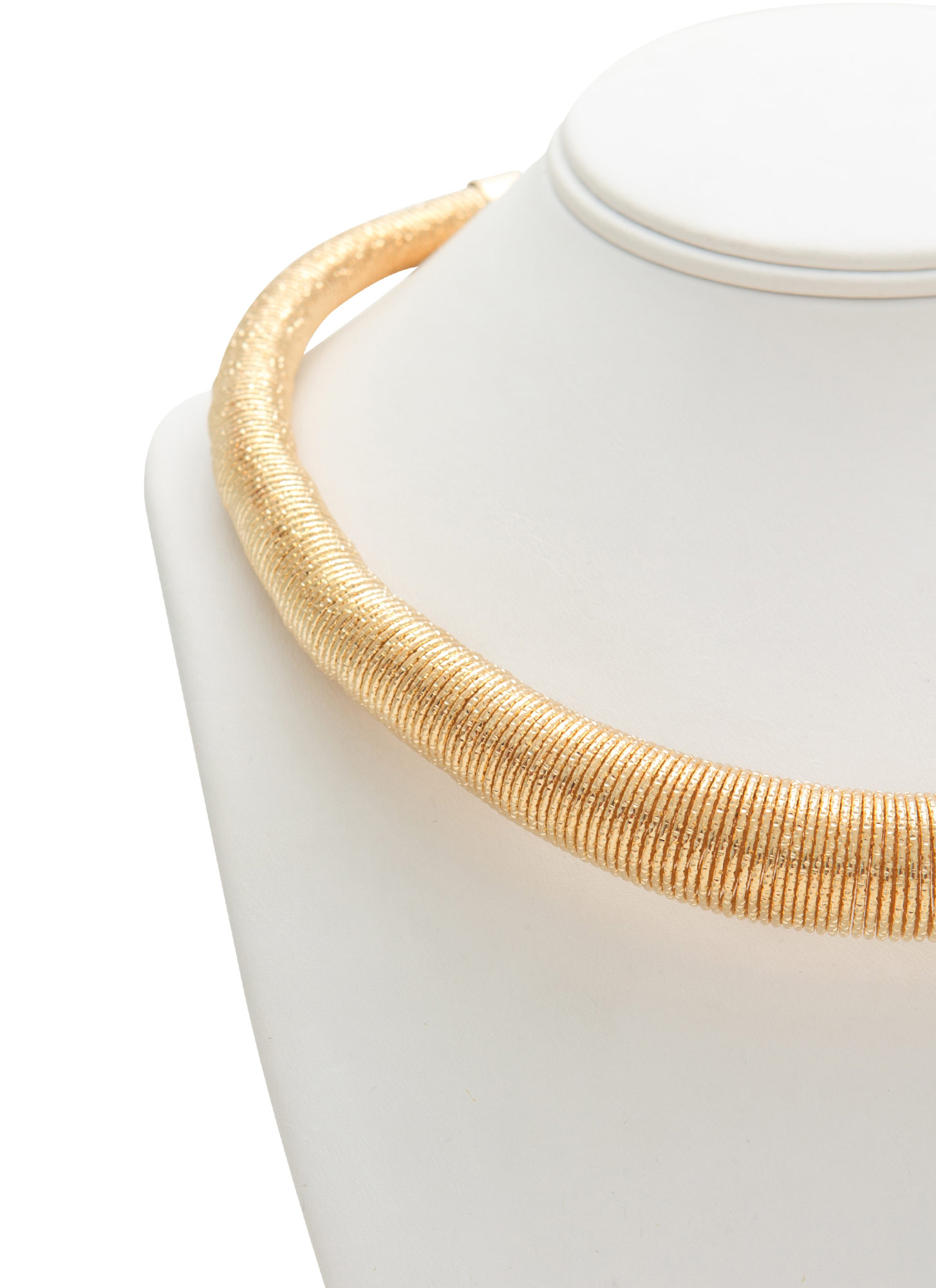 Glittery Coiled Collar Necklace GOLD