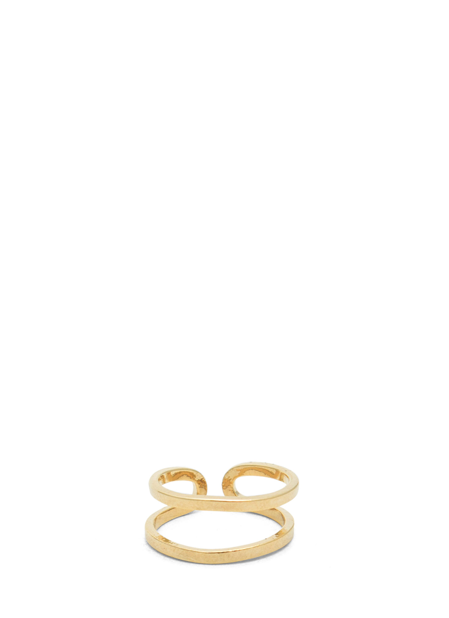 Shiny Adjustable Cut-Out Midi Ring GOLD