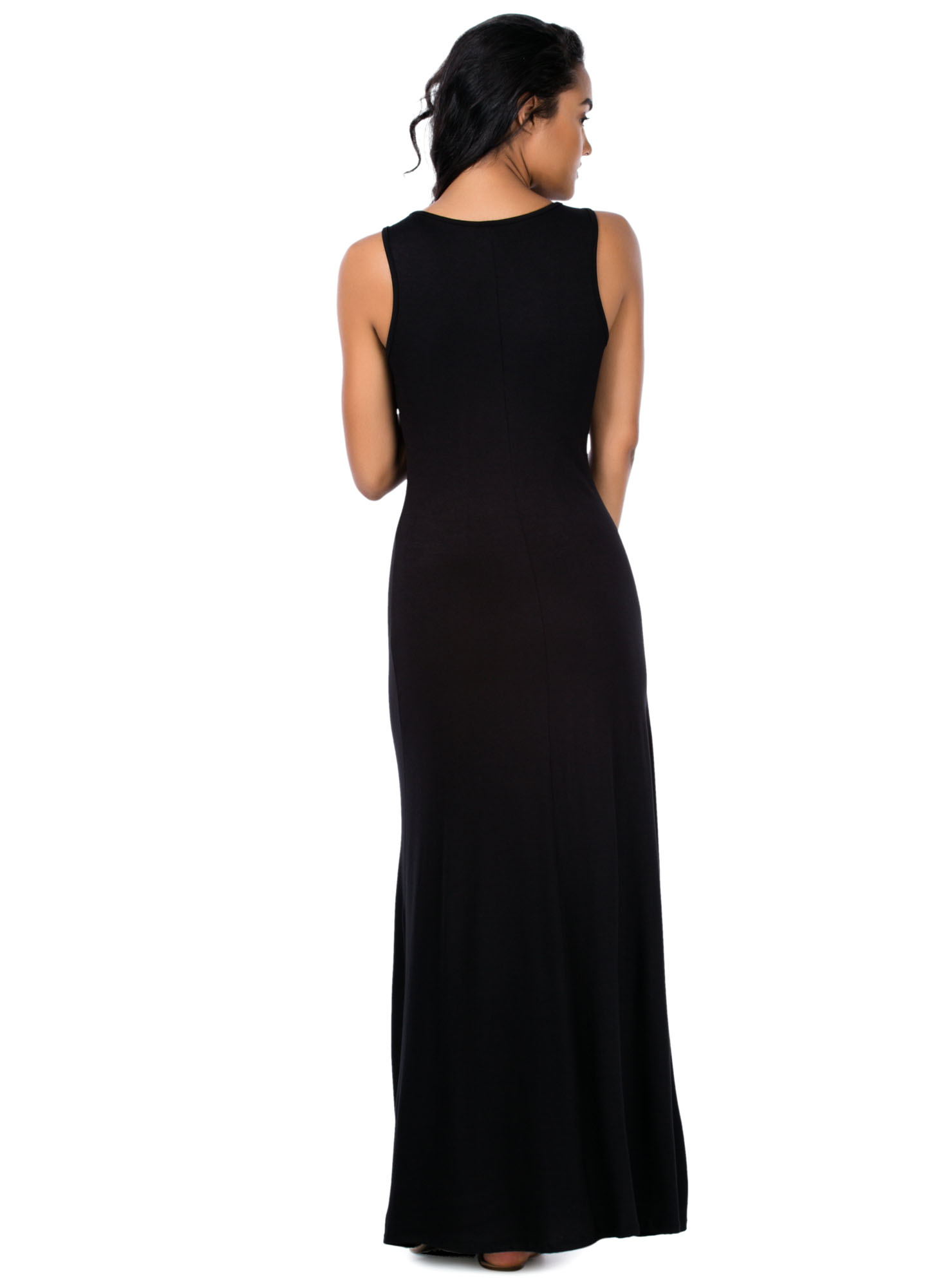 Button It Up Maxi Dress BLACK
